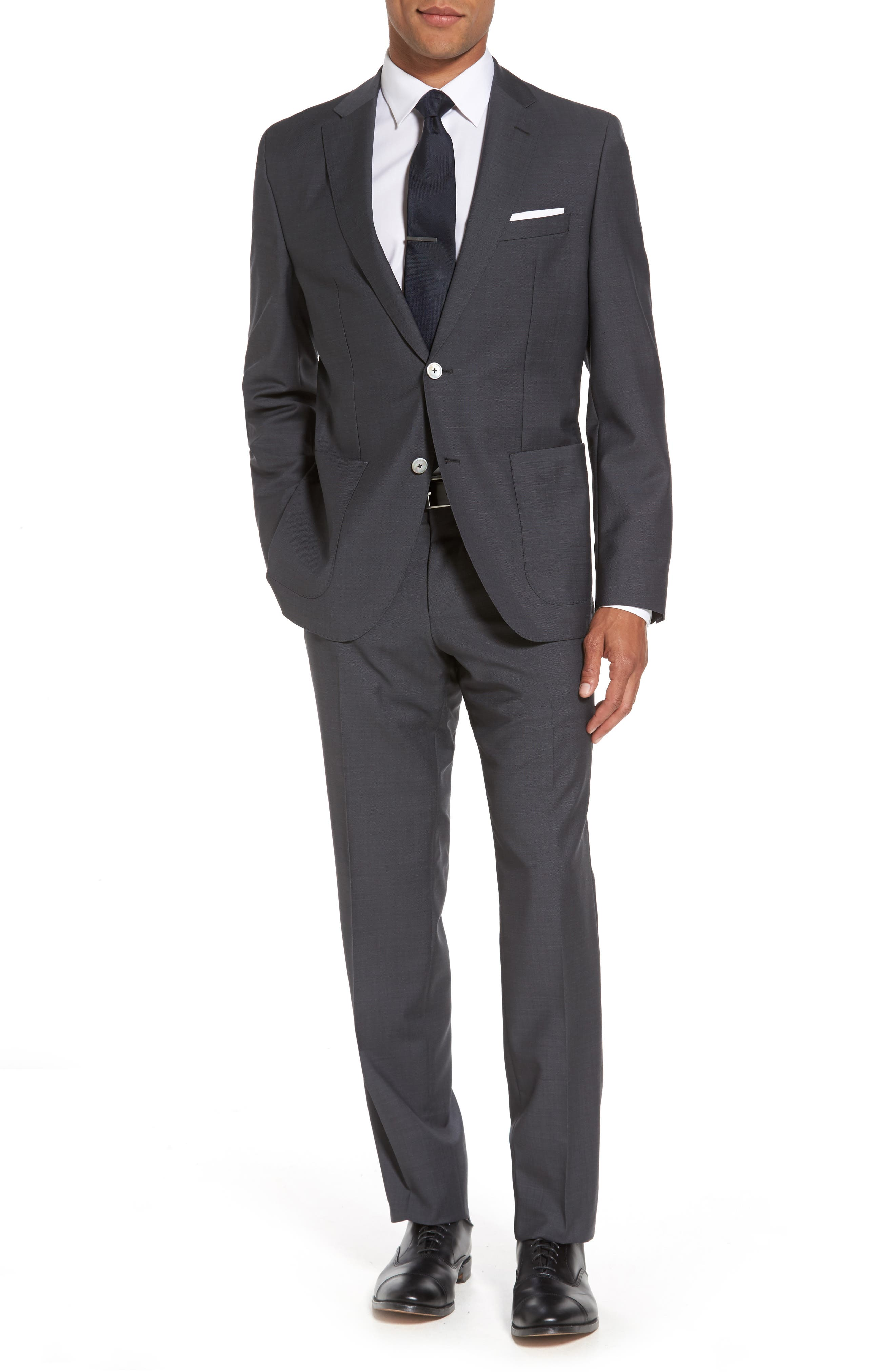 BOSS Janon/Lenon Trim Fit Solid Wool Suit
