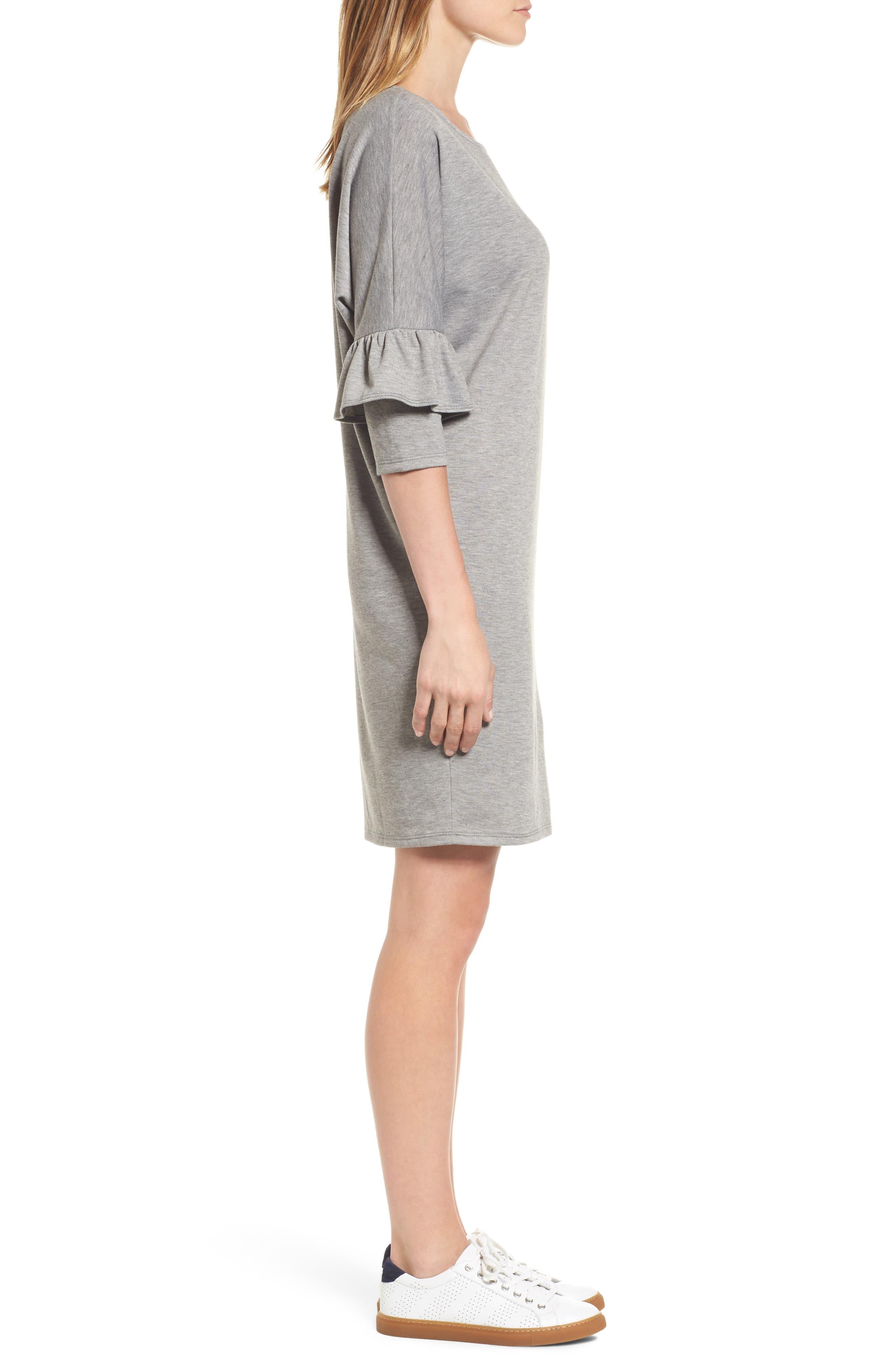 Alternate Image 3  - Bobeau Ruffle Sleeve Tunic Dress (Regular & Petite)