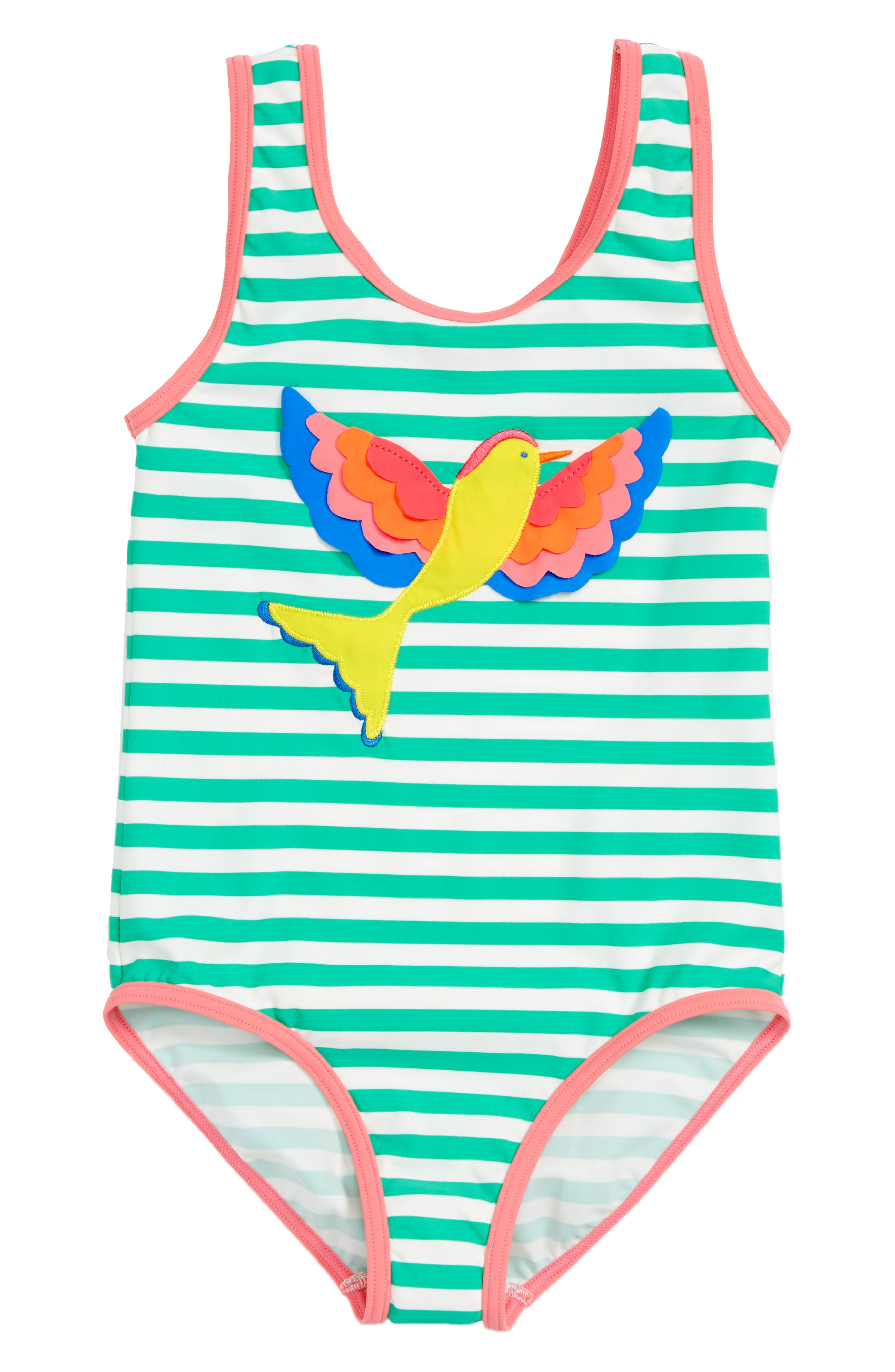 Mini Boden Print One-Piece Swimsuit (Toddler Girls, Little Girls & Big Girls)