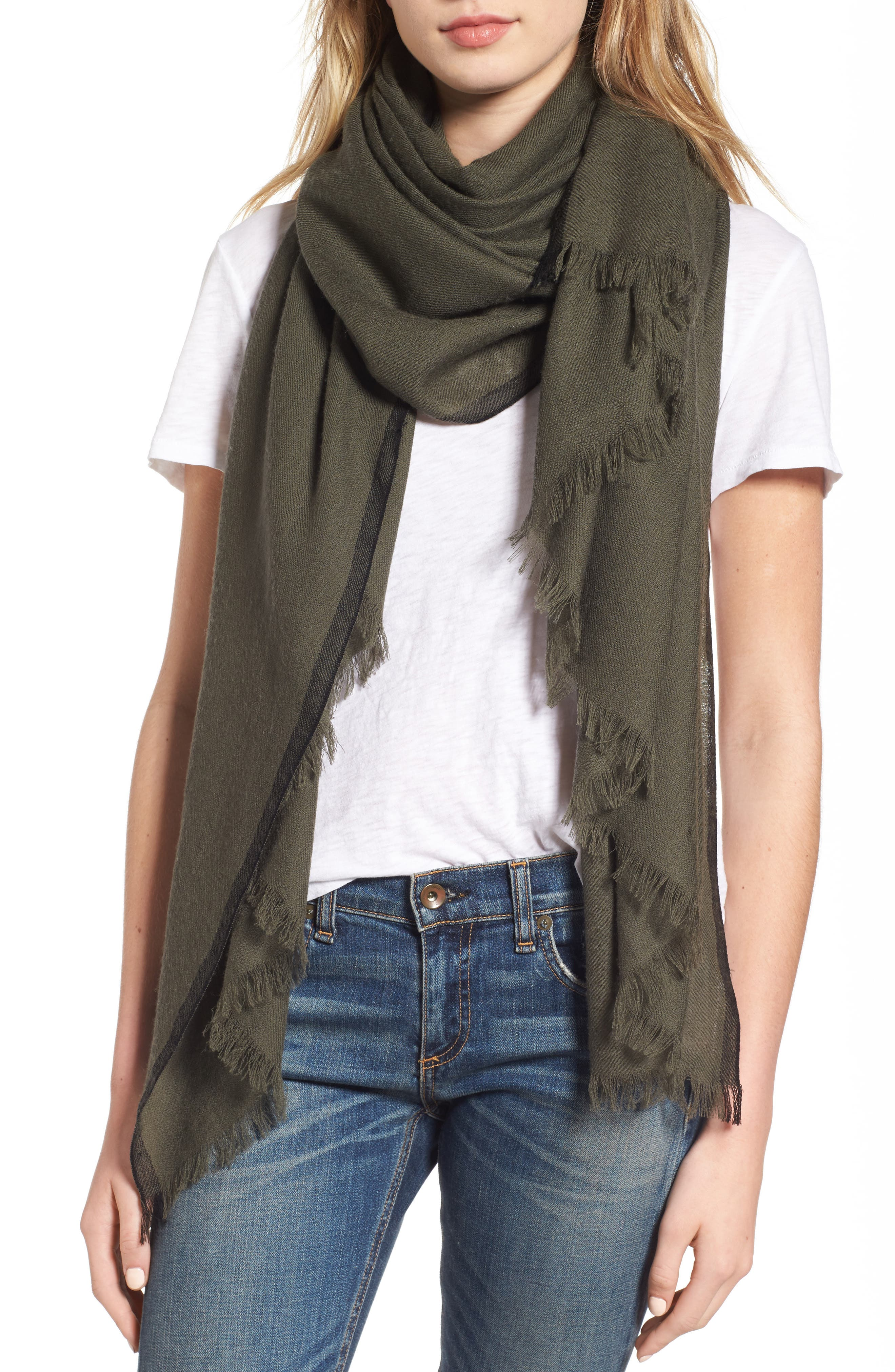 rag & bone Selvedge Edge Merino Wool Scarf