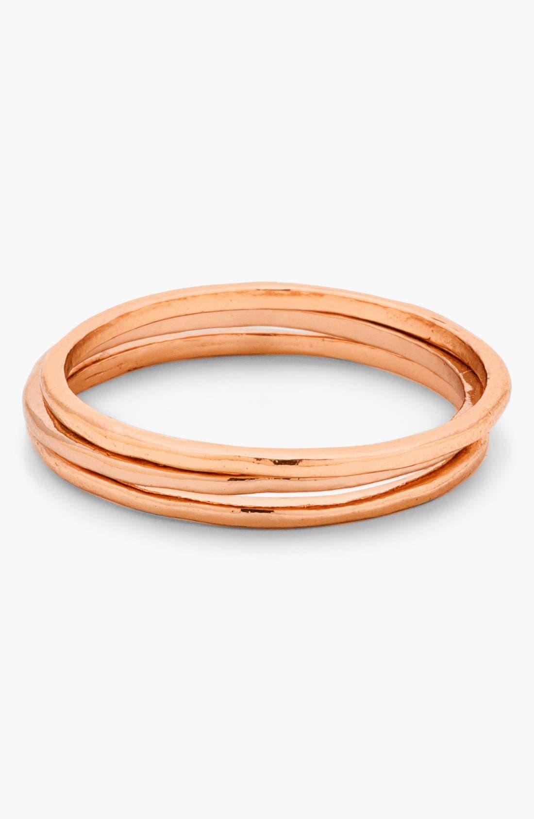 Main Image - gorjana 'G Ring' Rings (Set of 3)