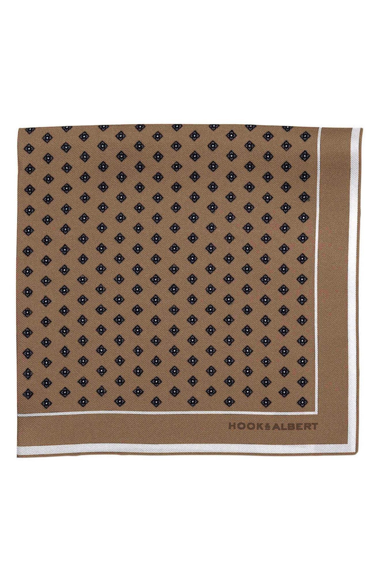 hook + ALBERT Dot Silk Pocket Square