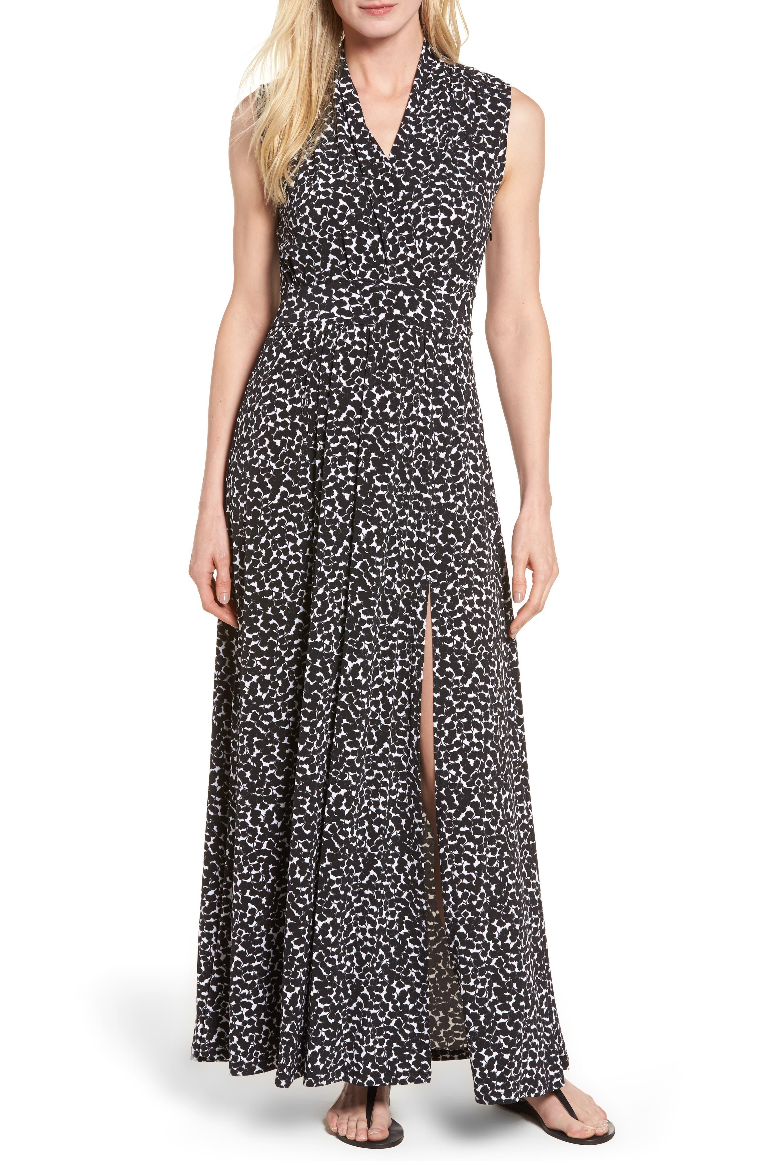 MICHAEL Michael Kors Mini Finy Faux Wrap Maxi Dress (Regular & Petite)