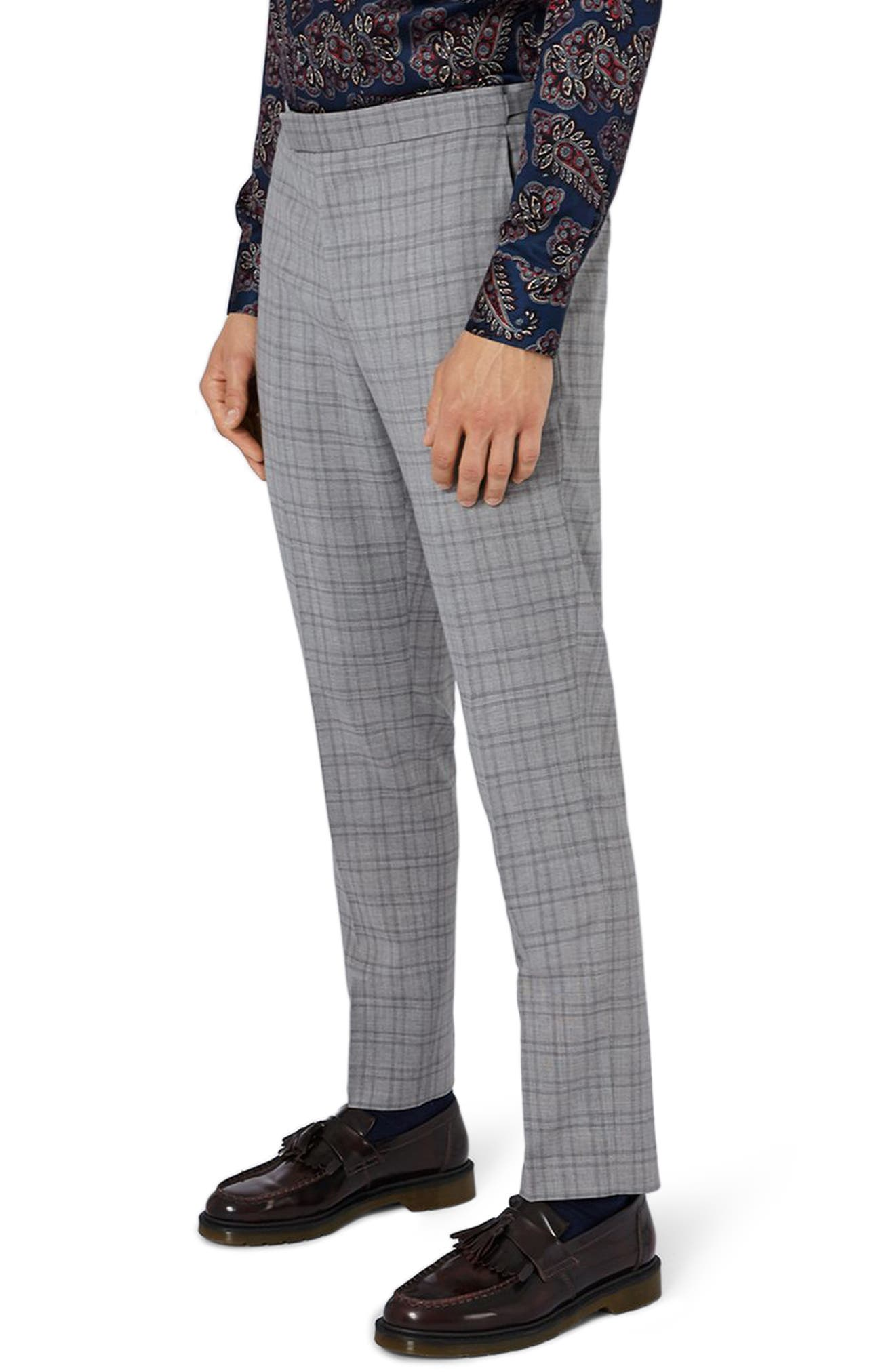 Charlie Casely-Hayford x Topman Skinny Fit Check Suit Trousers