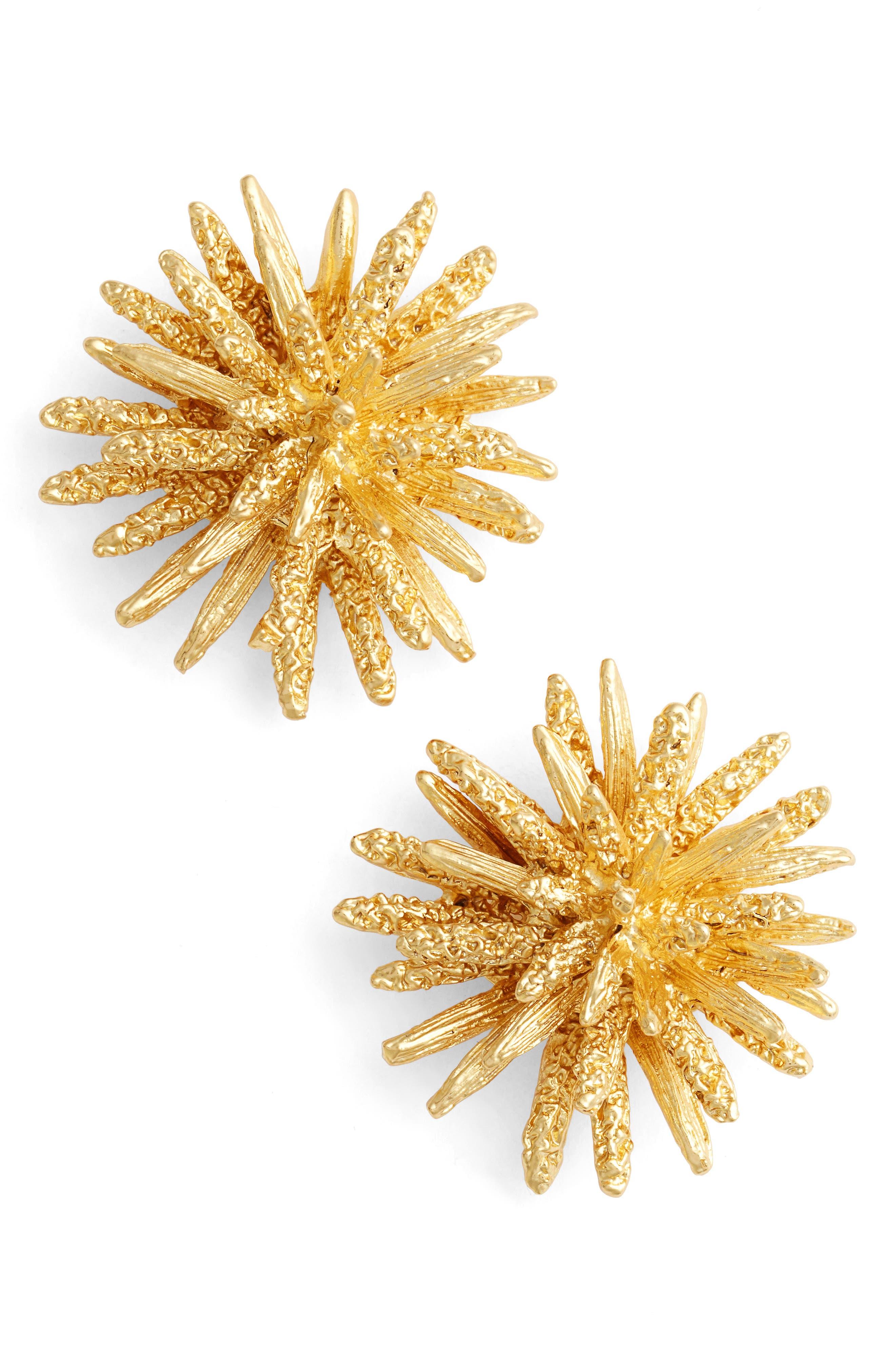 Karine Sultan Large Stud Earrings