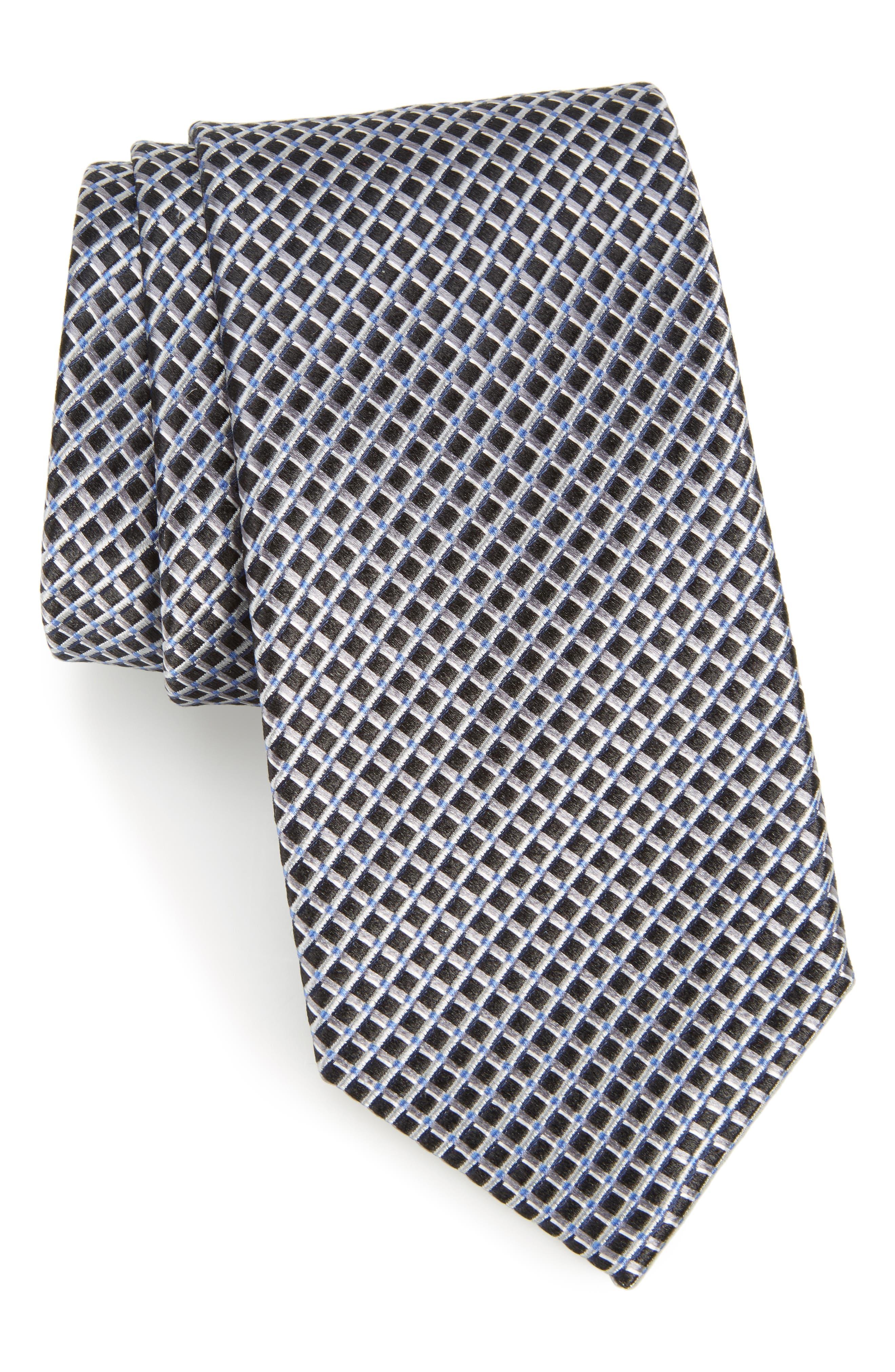 Calibrate Lisgar Grid Silk Tie