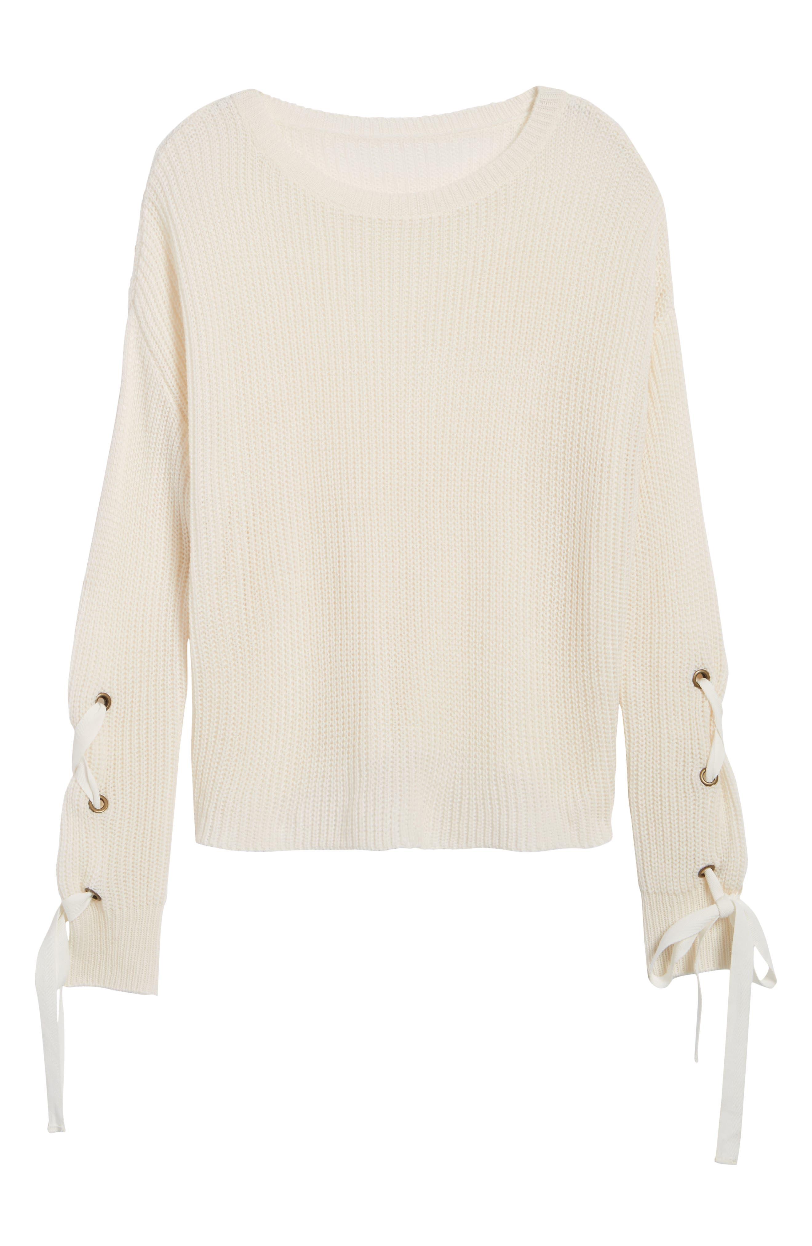 Madison & Berkeley Laced Sleeve Sweater
