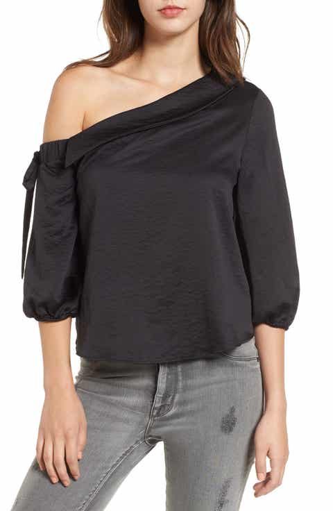 Love, Fire One-Shoulder Top