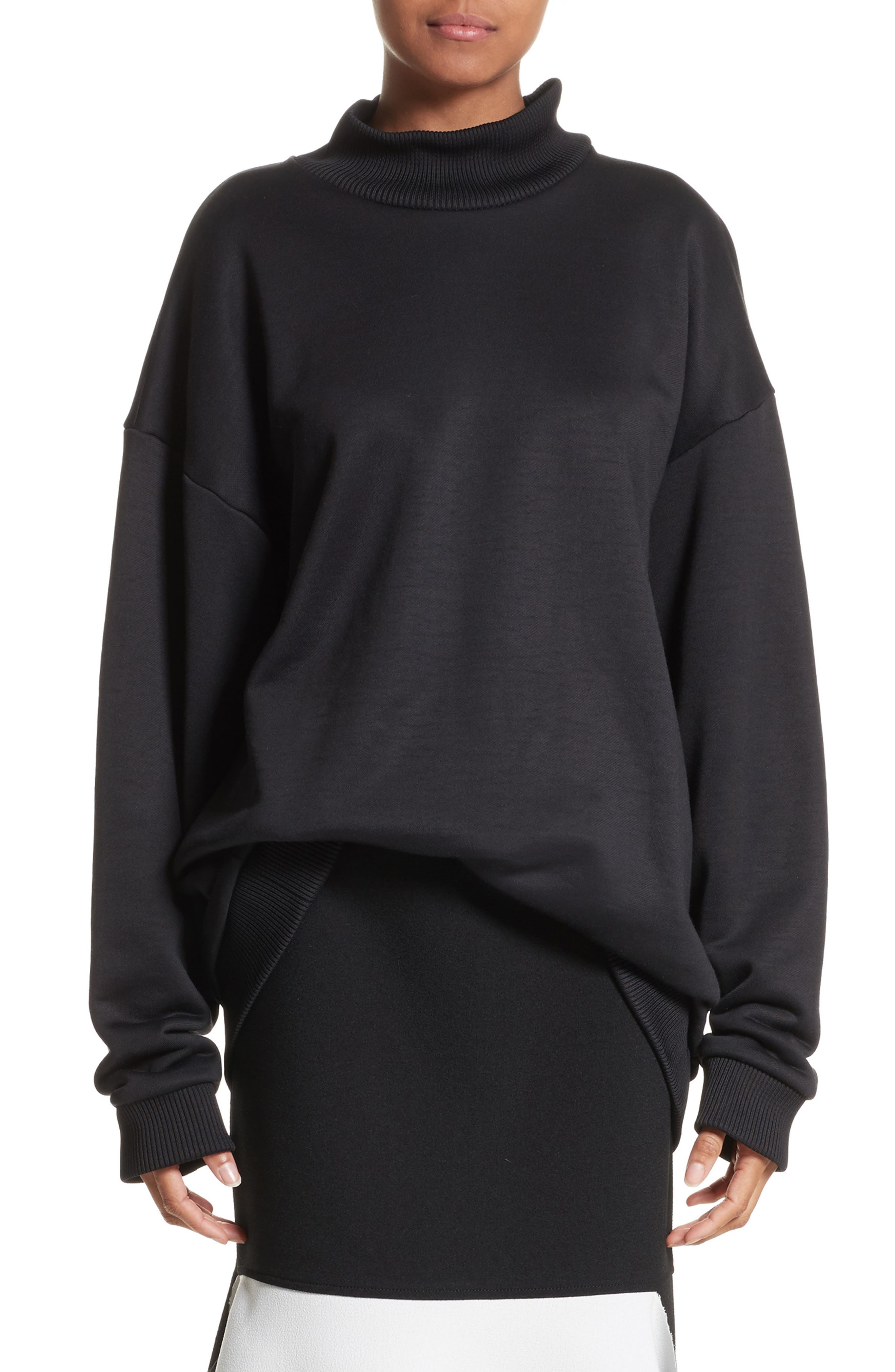 Marques'Almeida Oversize Mock Neck Sweatshirt
