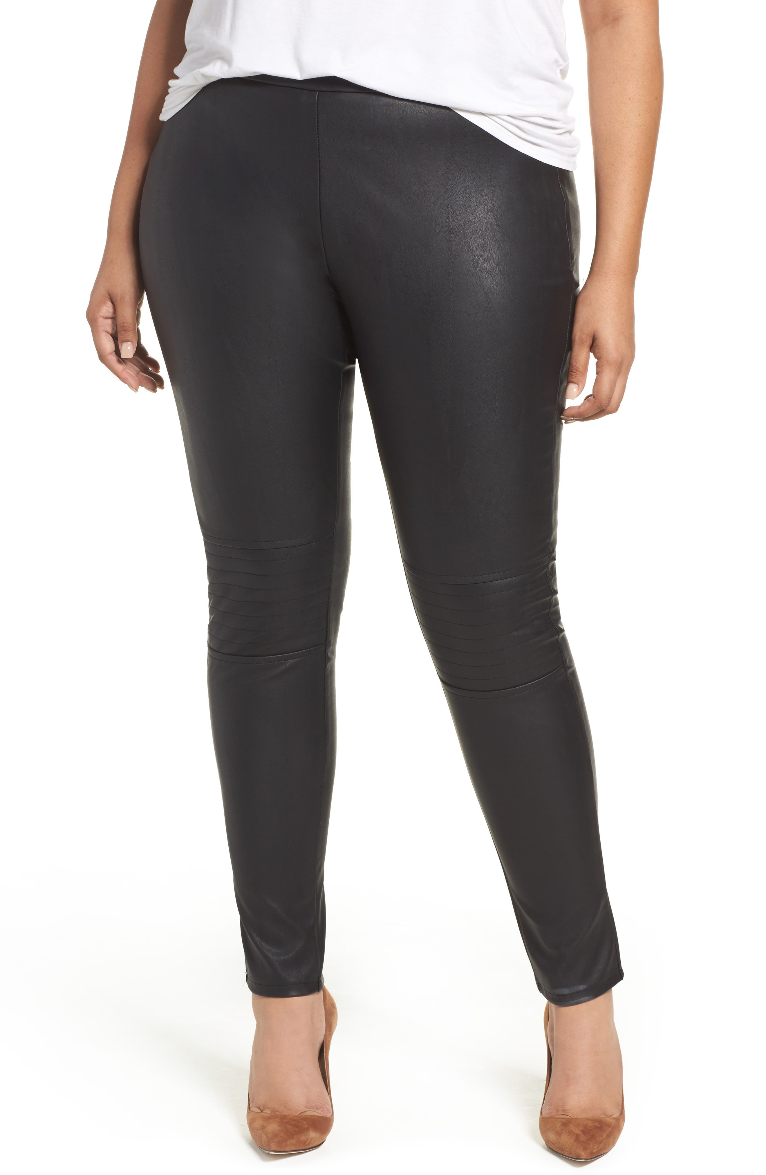 Glamorous Faux Leather Skinny Pants (Plus Size)
