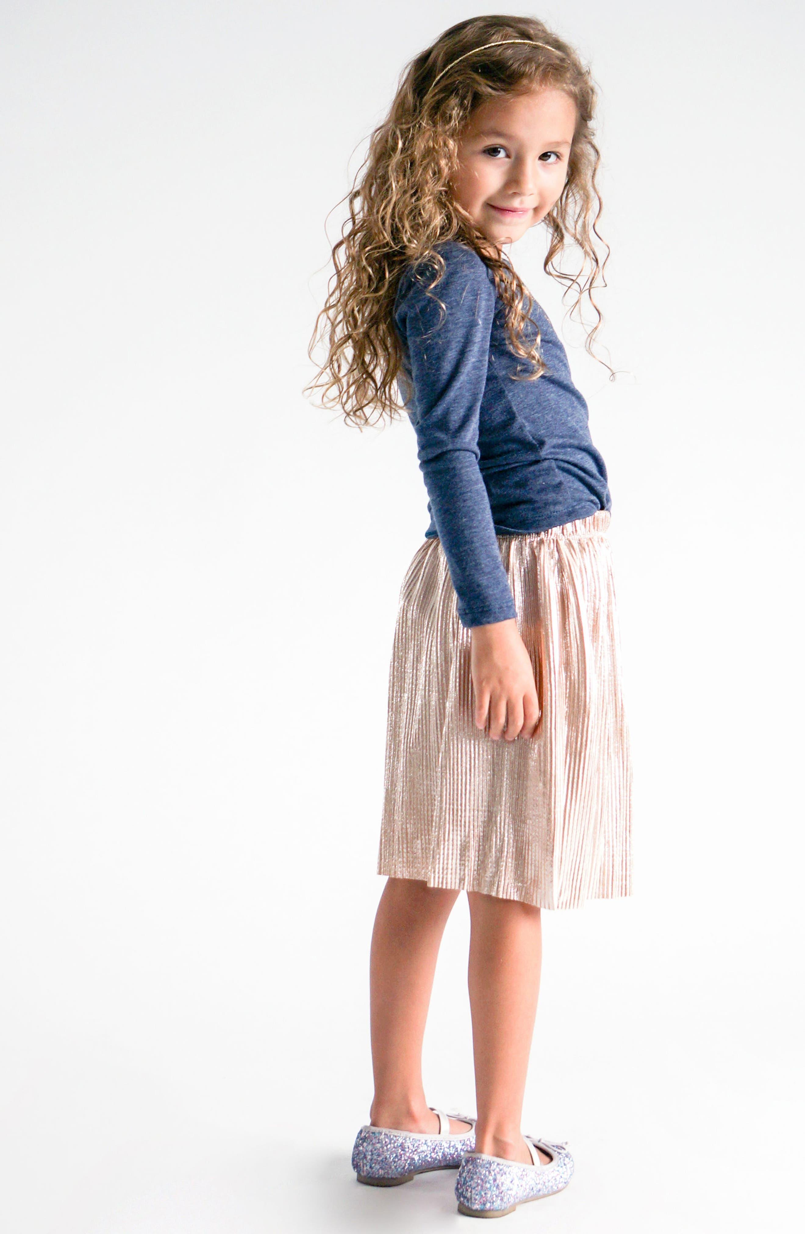 Alternate Image 3  - Truly Me Metallic Pleated Skirt (Toddler Girls & Little Girls)