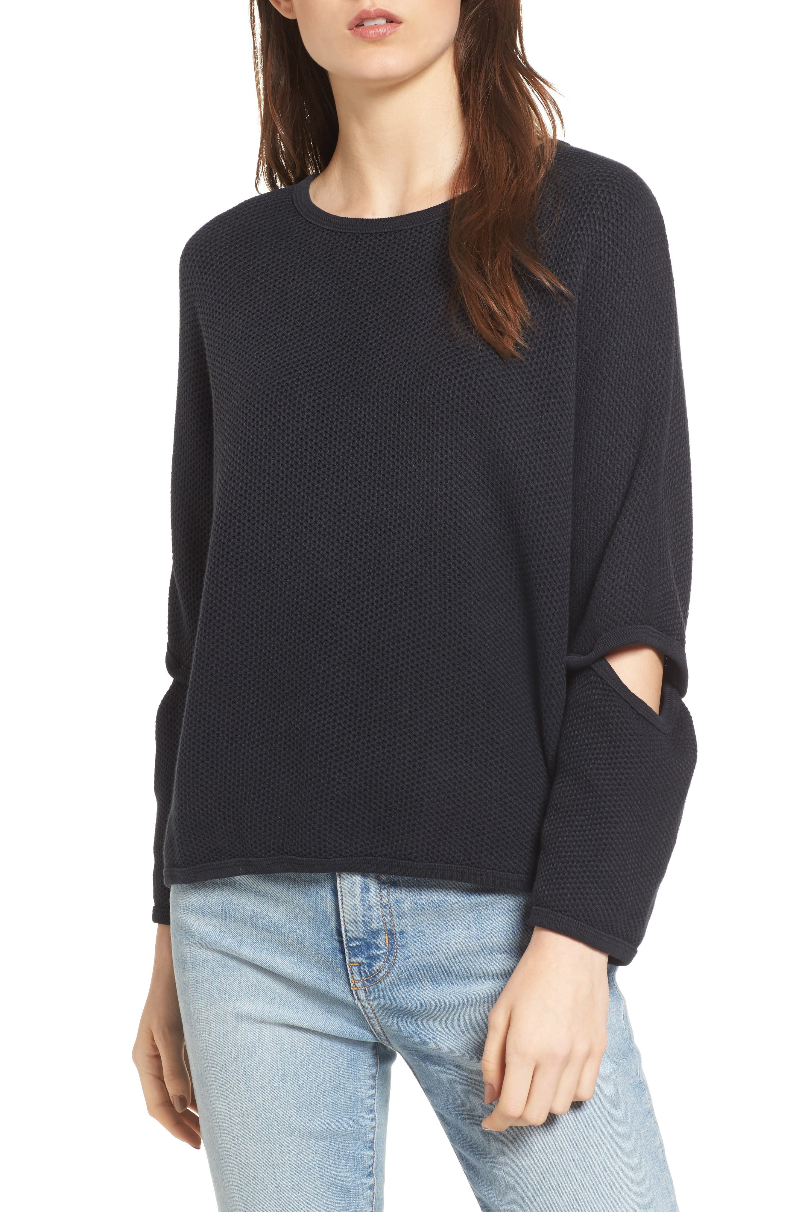 Current/Elliott The Easy Cutout Knit Pullover