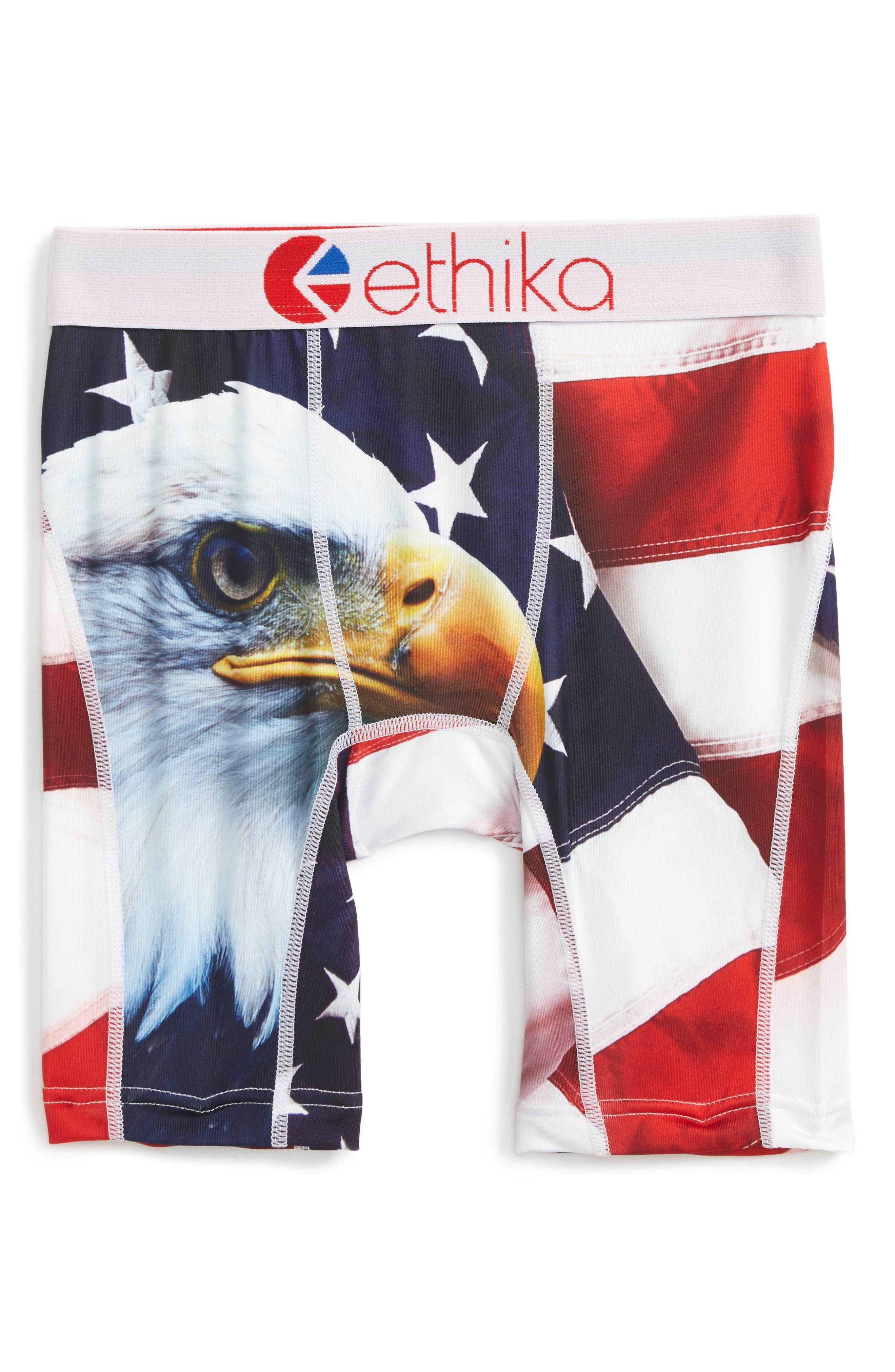 Ethika 4th of July Eagle Boxer Briefs (Big Boys)