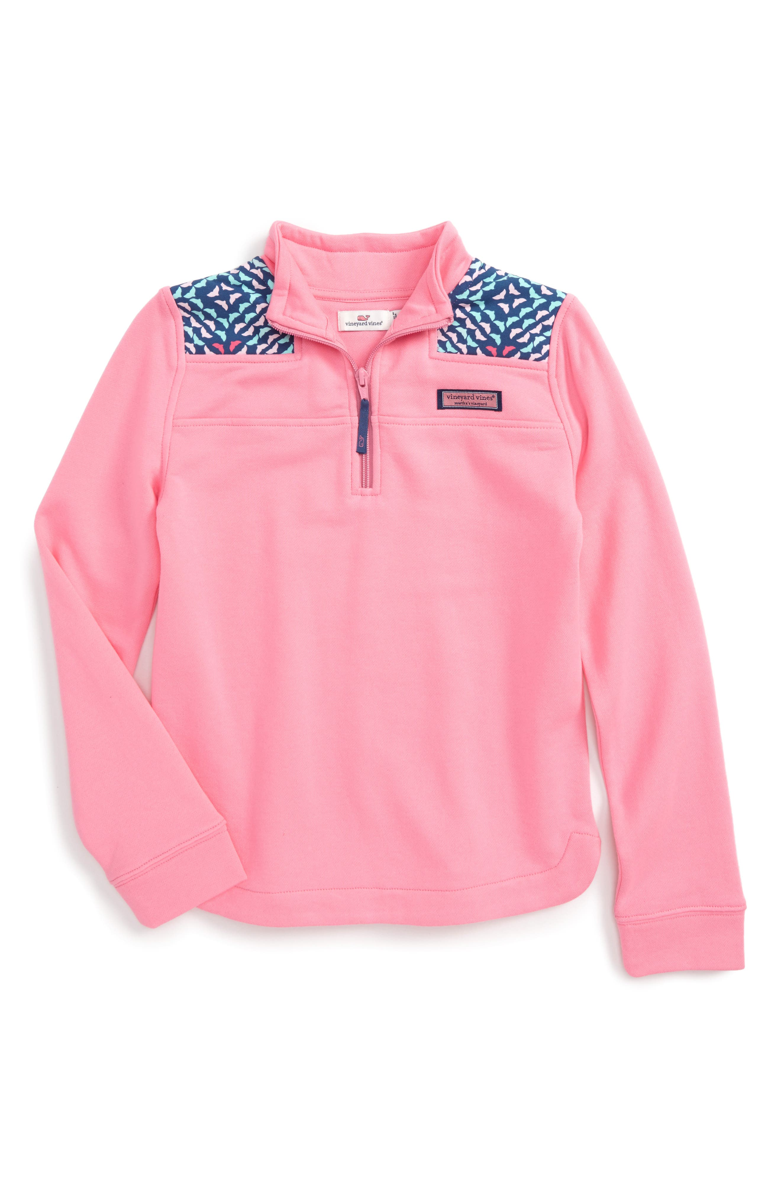 Vineyard Vines Shep Quarter Zip Pullover (Toddler Girls)