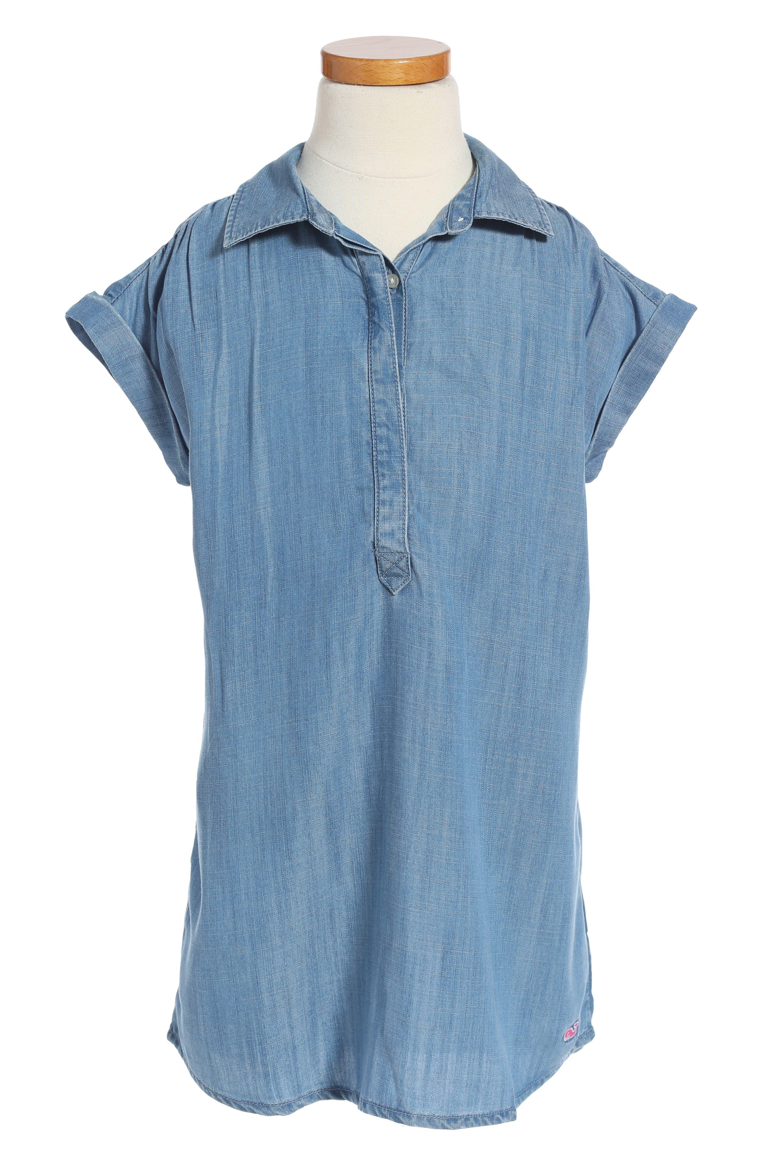 Vineyard Vines Chambray Shift Dress (Toddler Girls & Big Girls)
