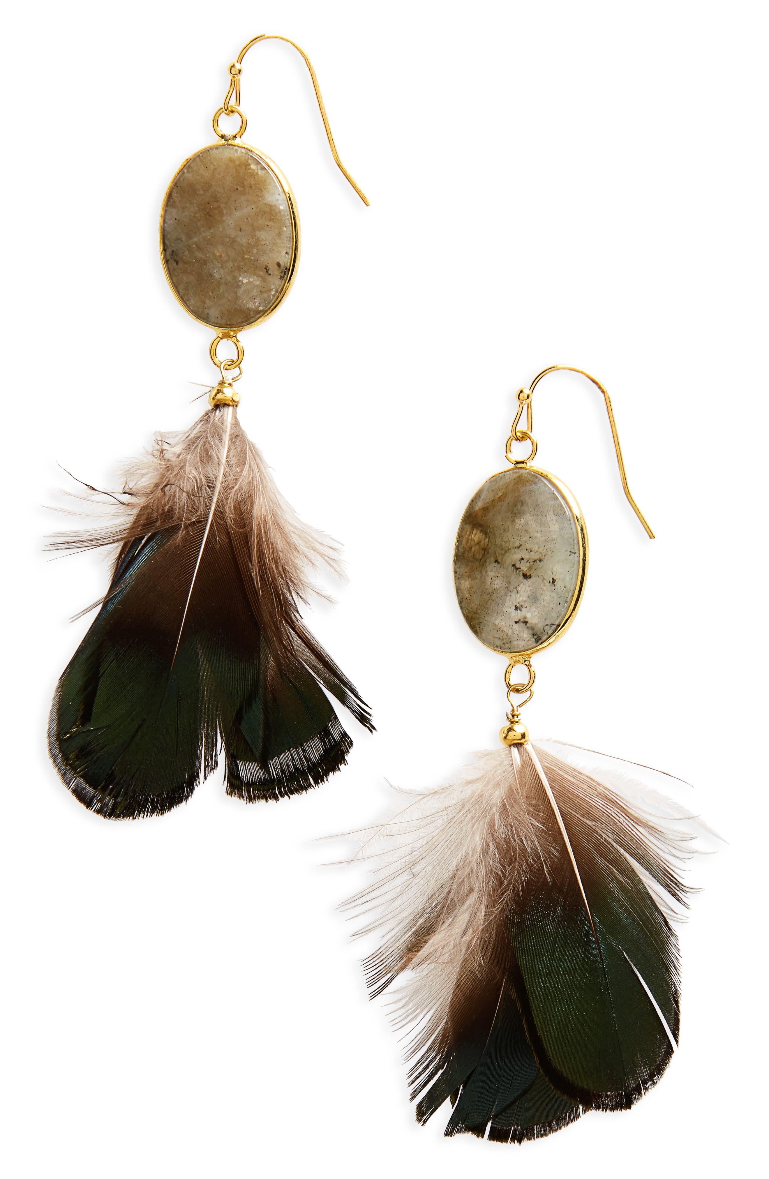 Panacea Feather Earrings