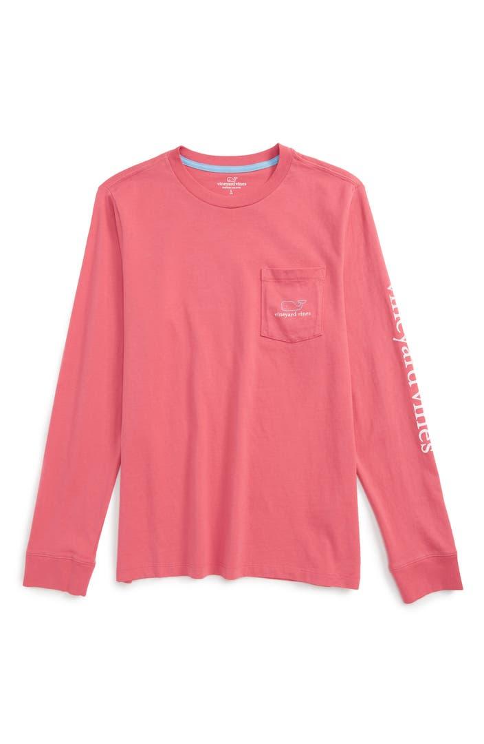 Vineyard vines 39 vintage whale 39 long sleeve pocket t shirt for Boys pocket t shirt