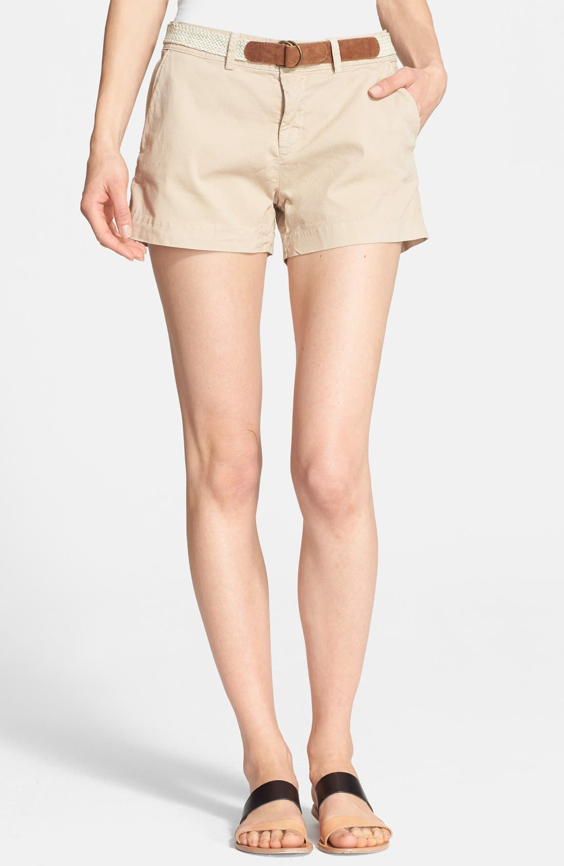 Alternate Image 1 Selected - Joie 'Jardin' Belted Chino Shorts