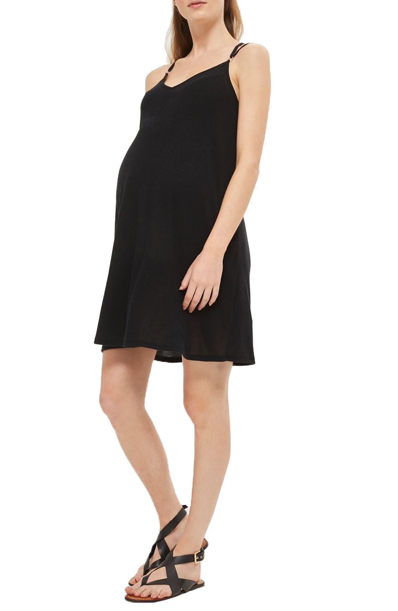 Topshop Rib Trapeze Maternity Dress