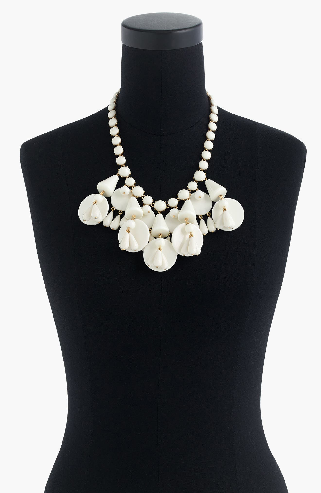 J.Crew Geometric Bib Necklace