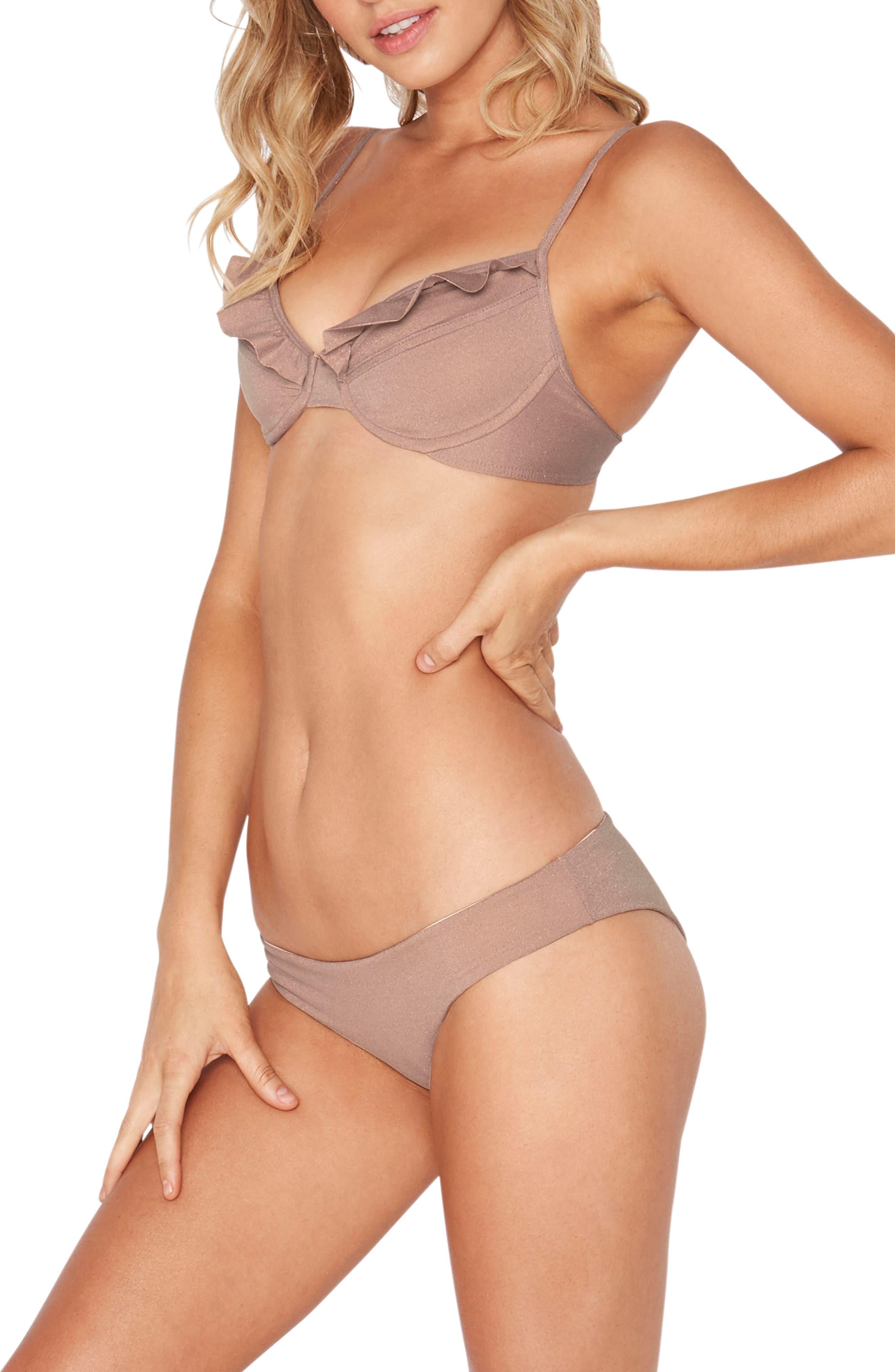 L Space Priscilla Metallic Underwire Bikini Top