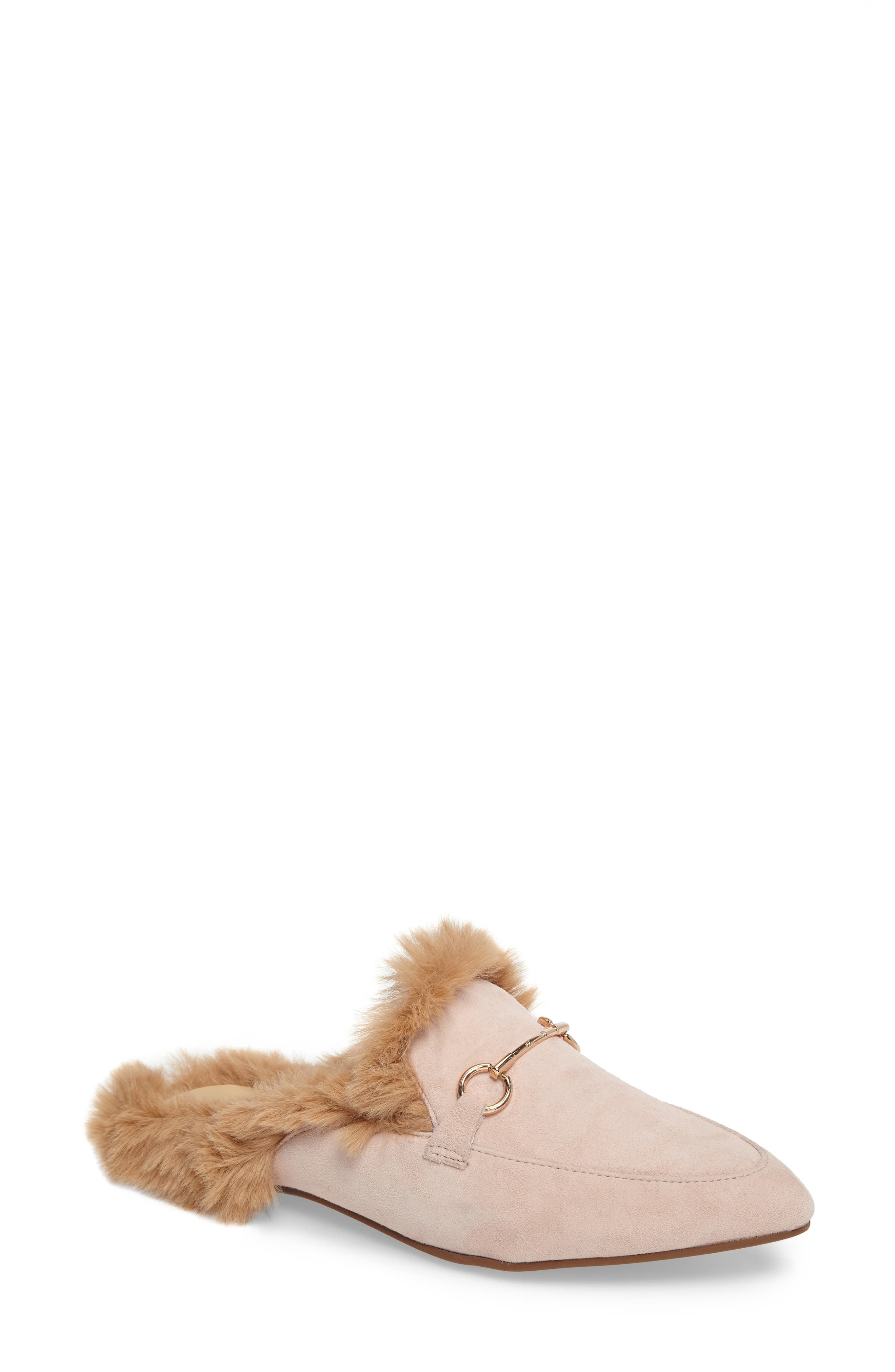 Kristin Cavallari Carter Faux Fur Loafer Mule (Women)