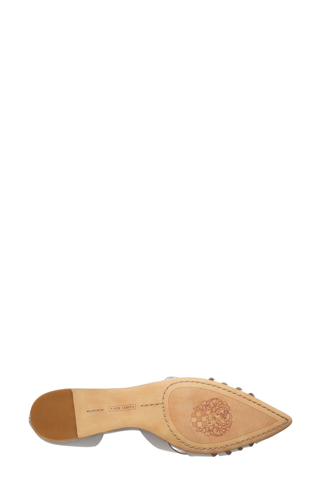 Alternate Image 4  - Vince Camuto 'Hallie' Woven Leather d'Orsay Flat (Women) (Nordstrom Exclusive)