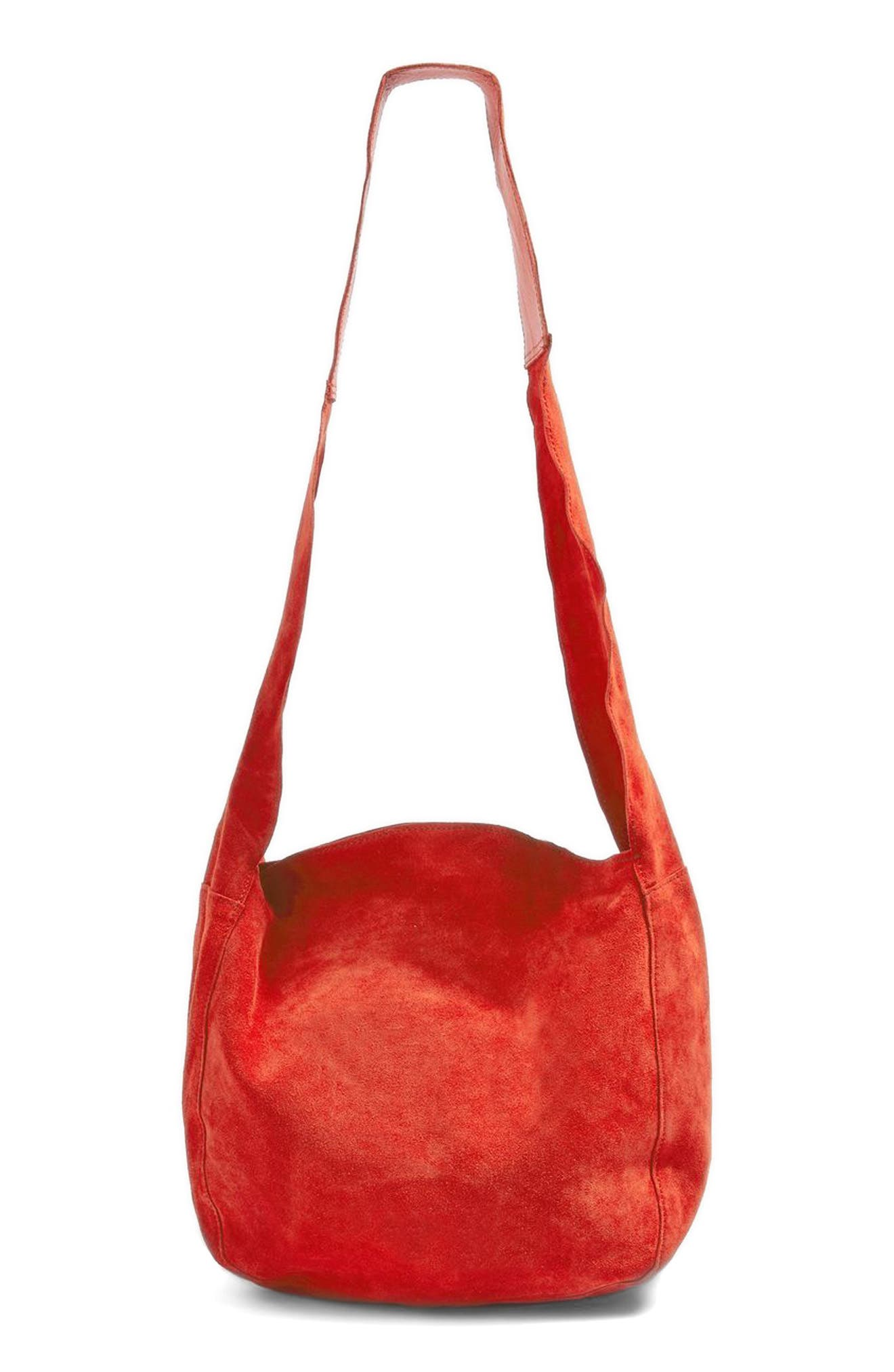 Topshop Susie Mini Leather Hobo