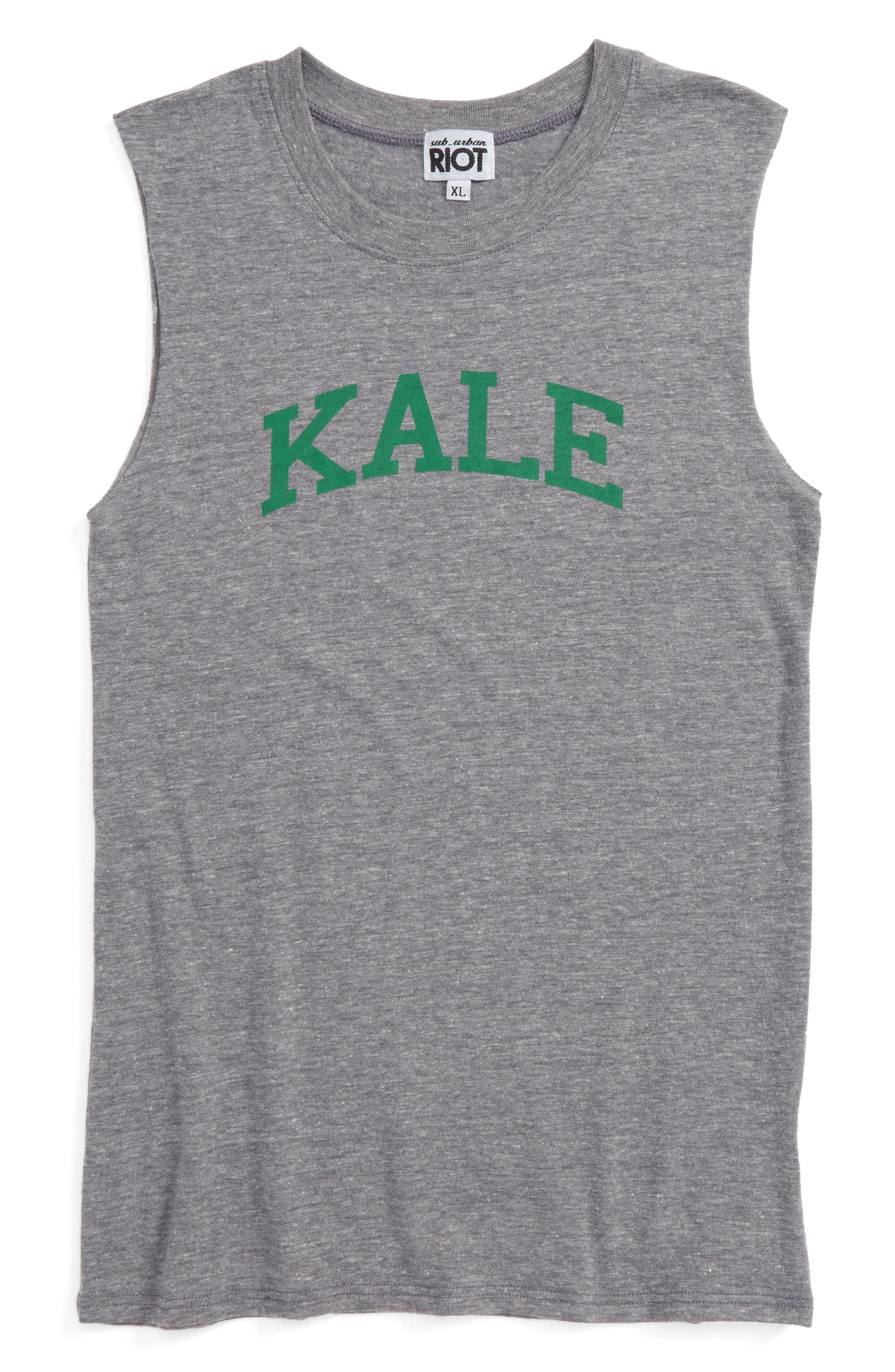 Sub_Urban Riot Kale Muscle Tee (Big Girls)
