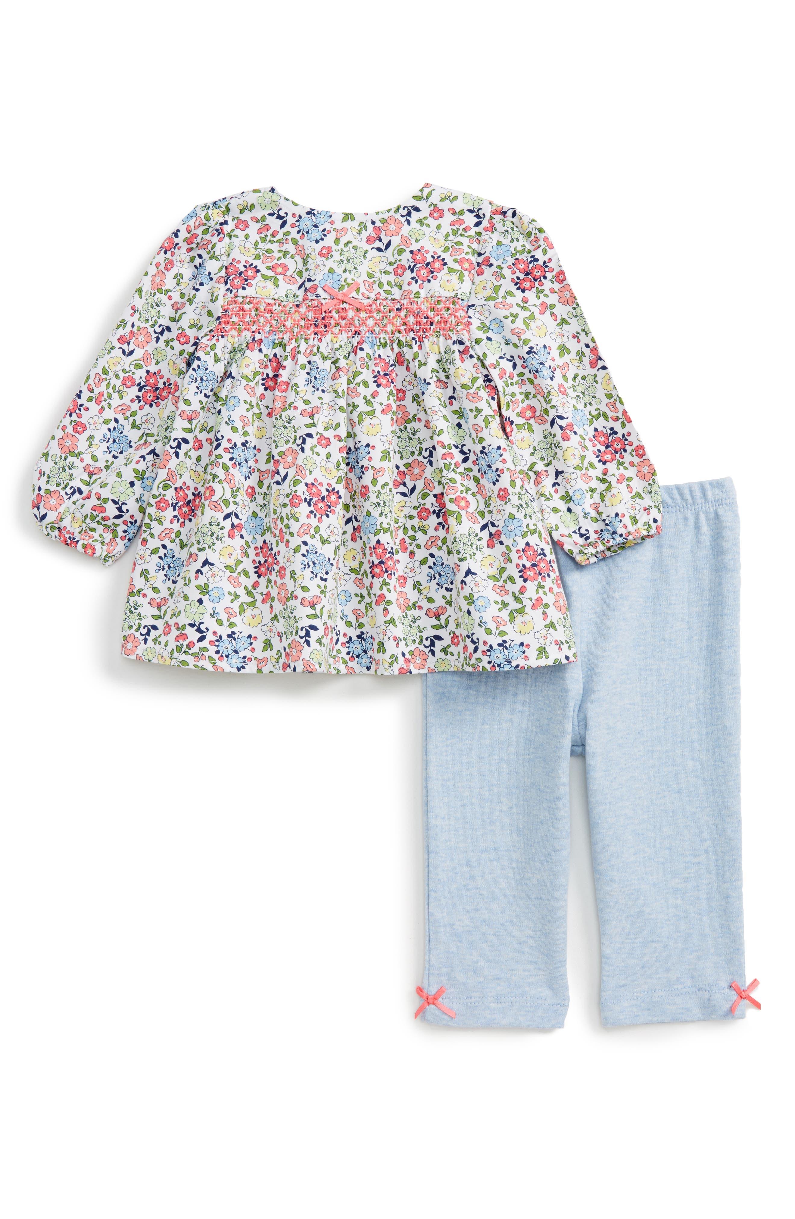 Little Me Floral Tunic & Leggings Set (Baby Girls)