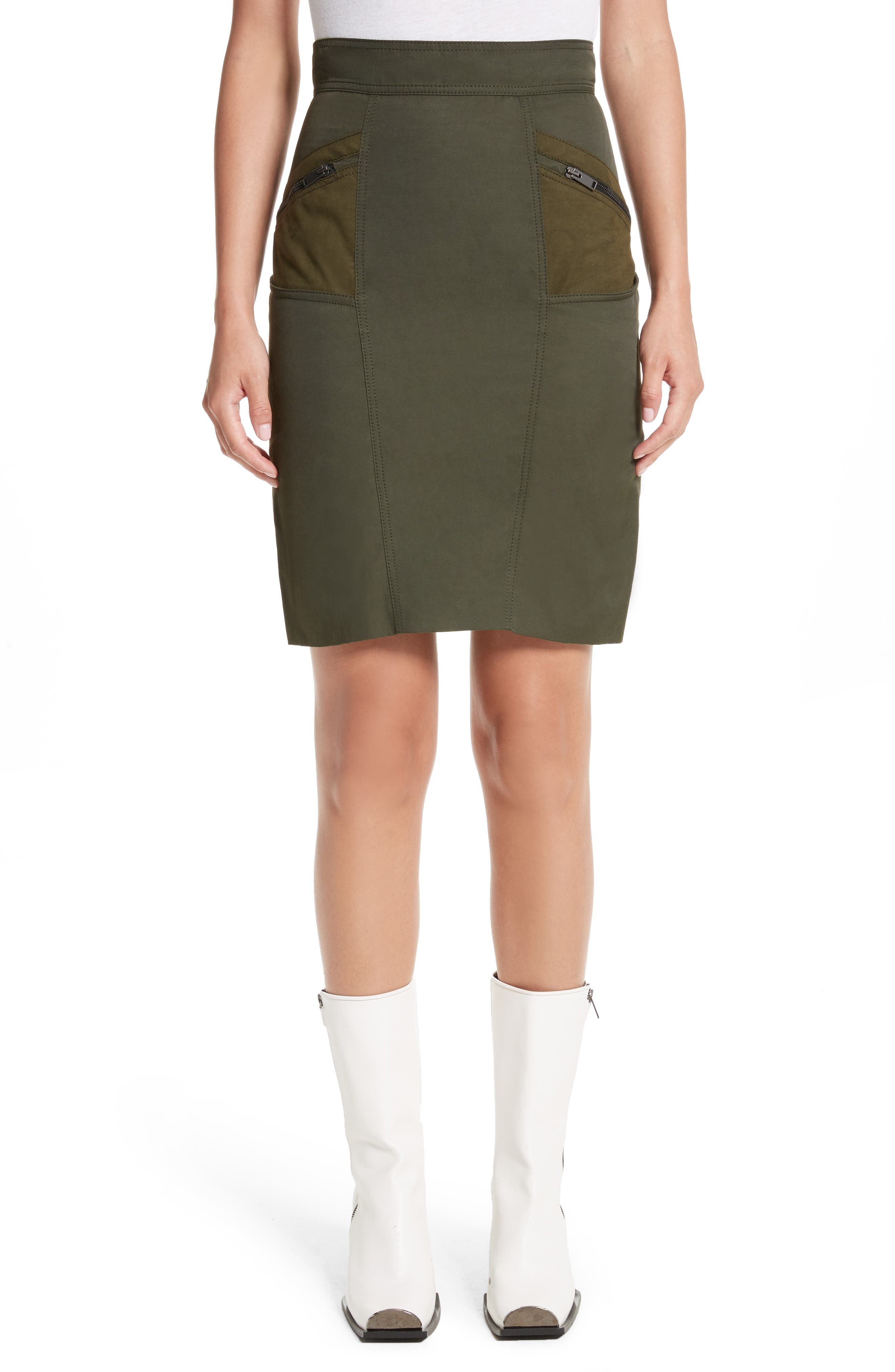 Stella McCartney Alter Suede Trim Skirt
