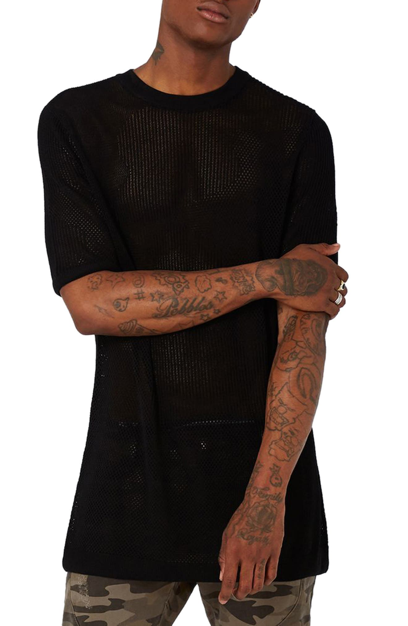 Topman AAA Collection Mesh Knit Pullover
