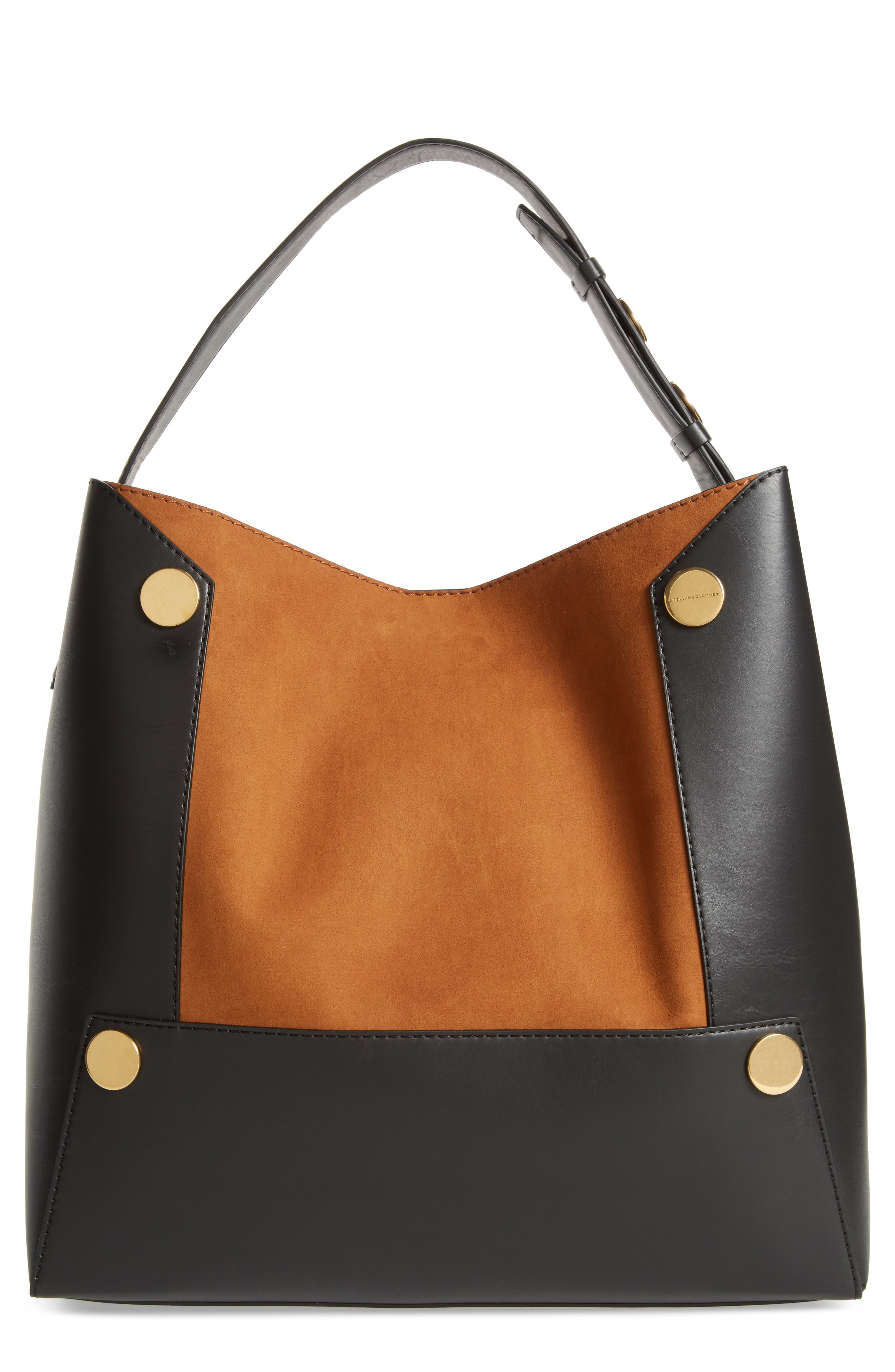 Stella McCartney Large Textured Faux Leather Bucket Bag