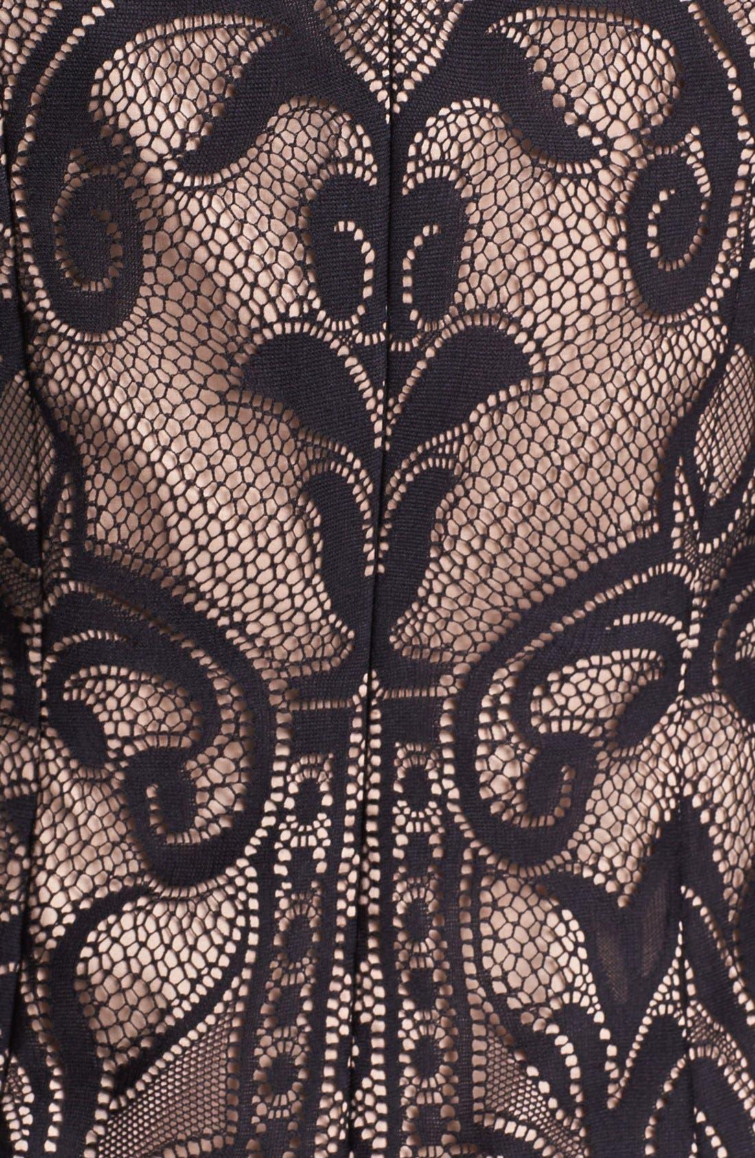 Alternate Image 4  - Adrianna Papell Lace Sheath Dress (Regular & Petite)