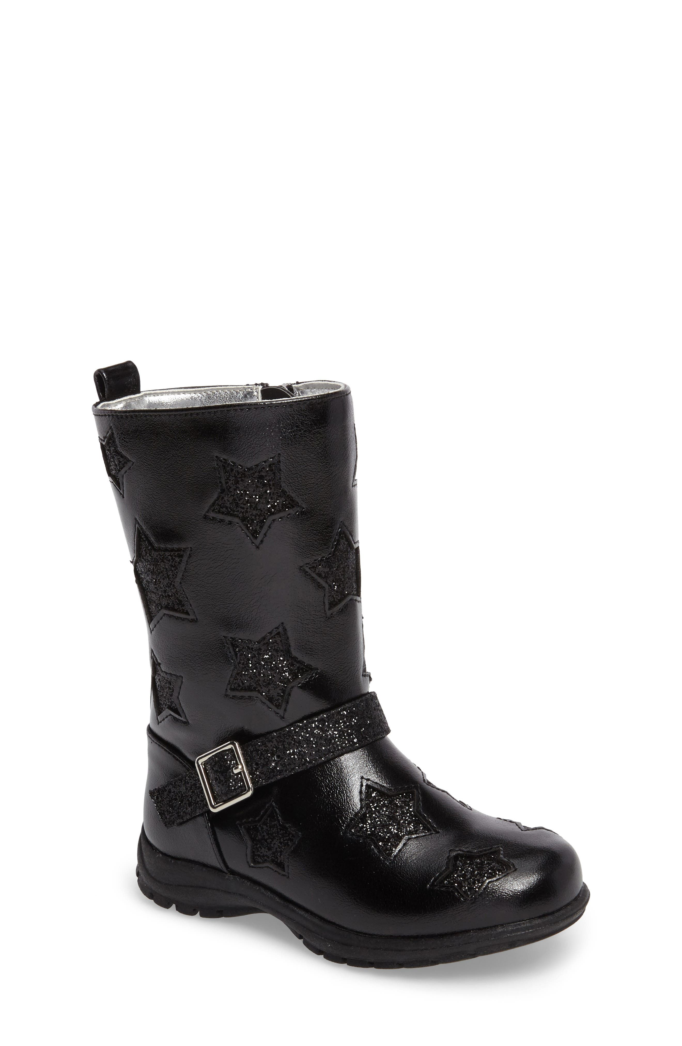 Reaction Kenneth Cole Dolly Star Glitter Boot (Walker & Toddler)