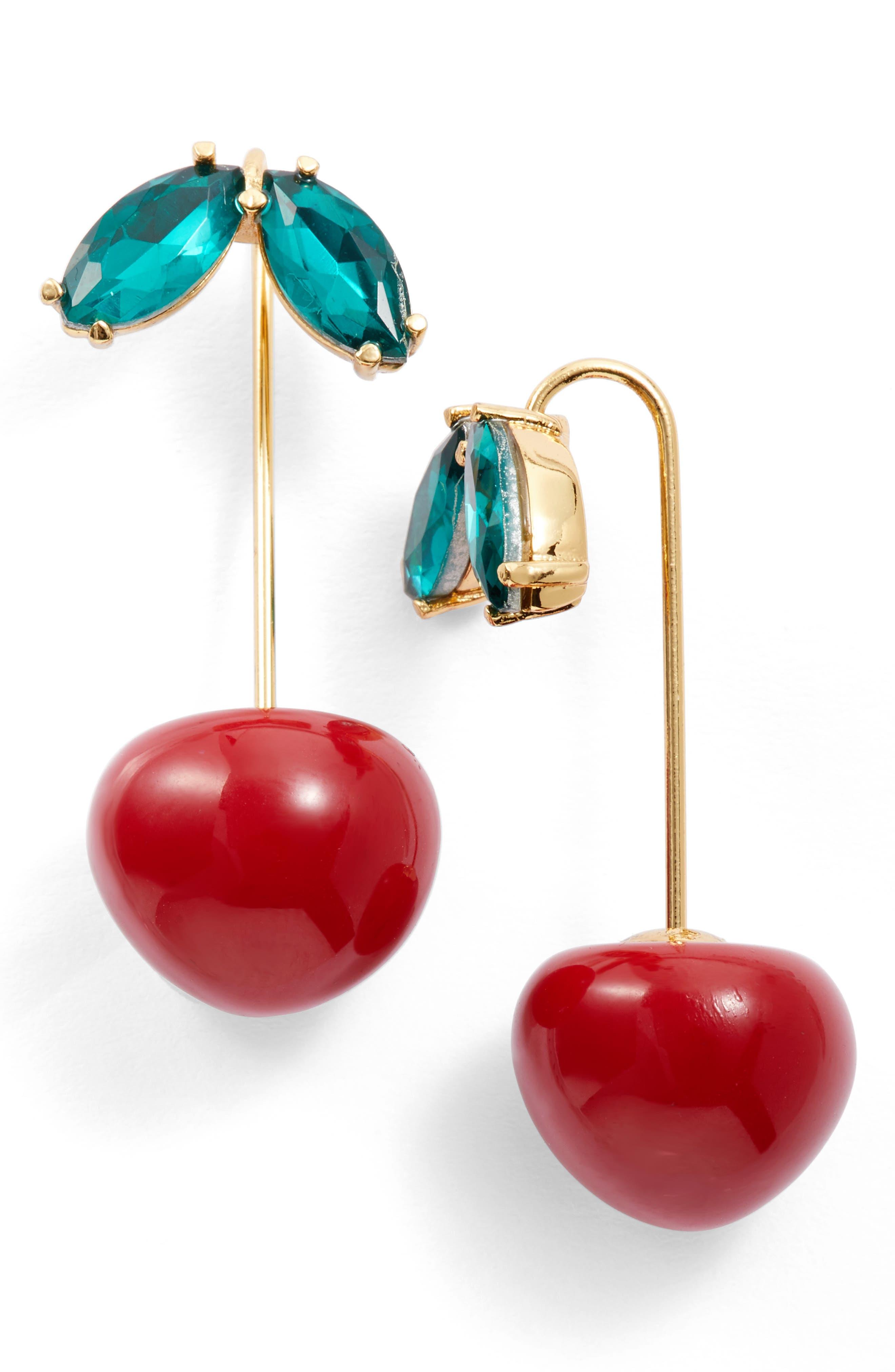 kate spade new york ma cherie cherry threader earrings