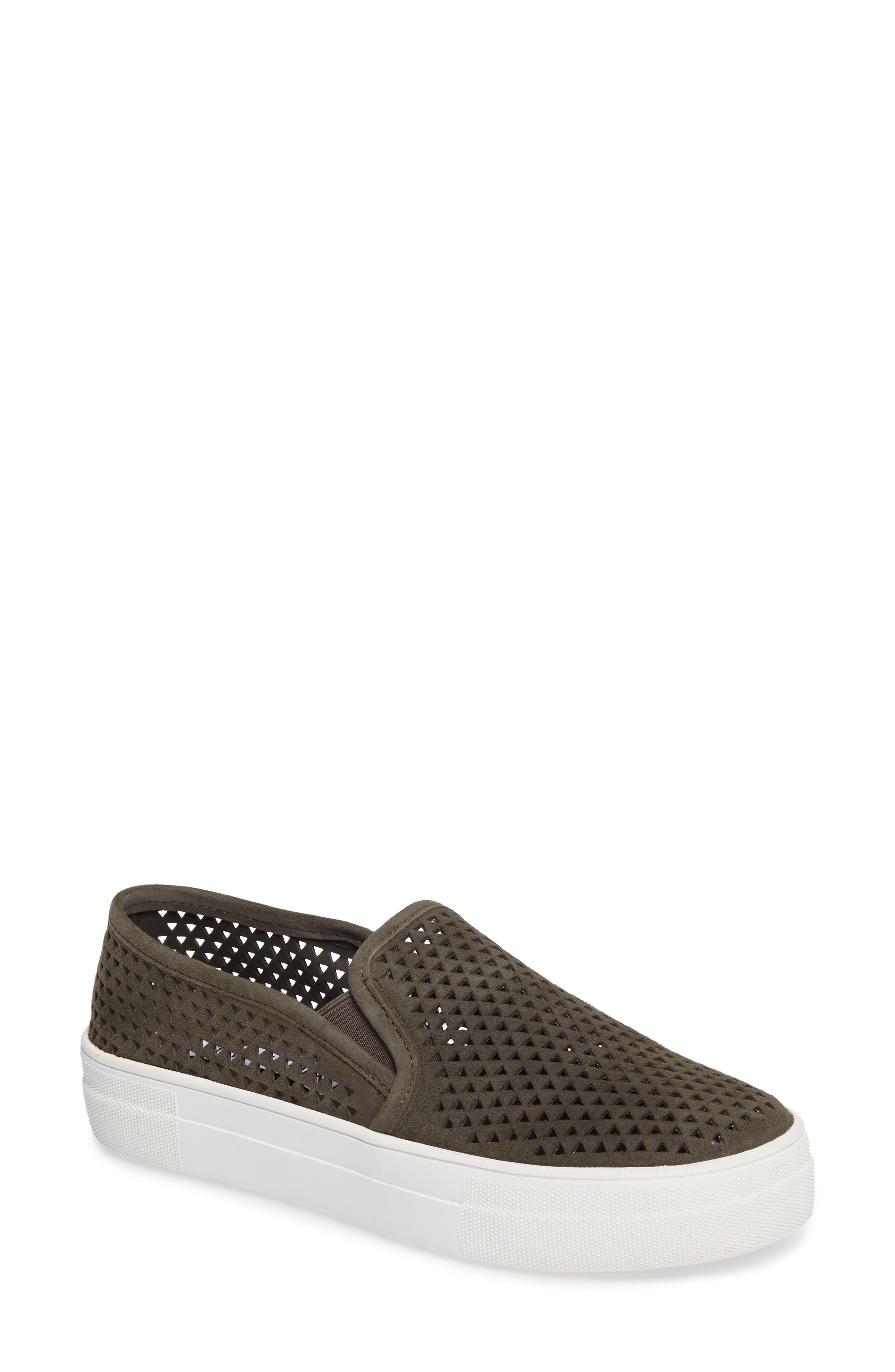 Steve Madden Gills Perforated Slip-On Sneaker (Women)
