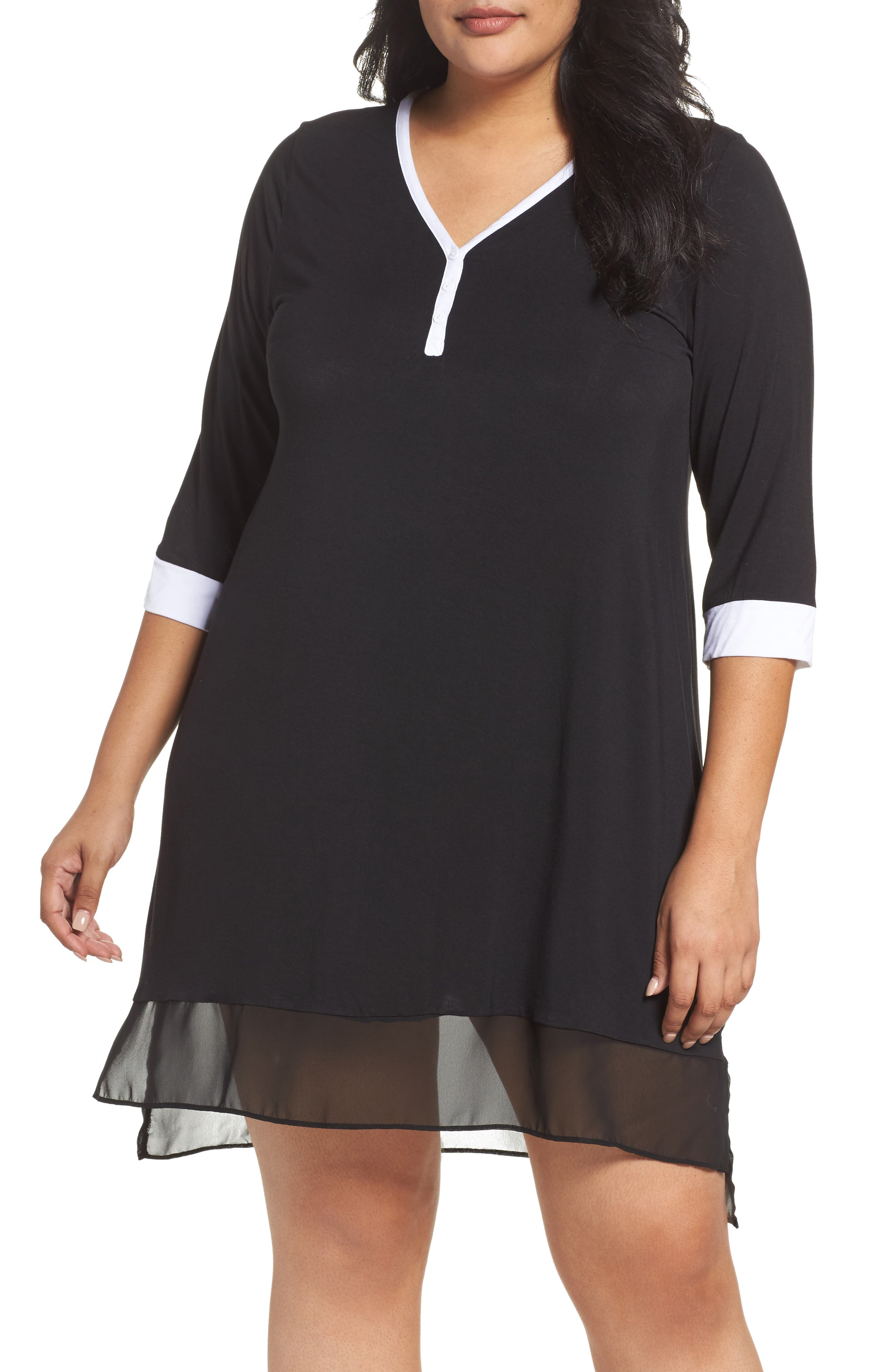 DKNY Henley Sleep Shirt (Plus)