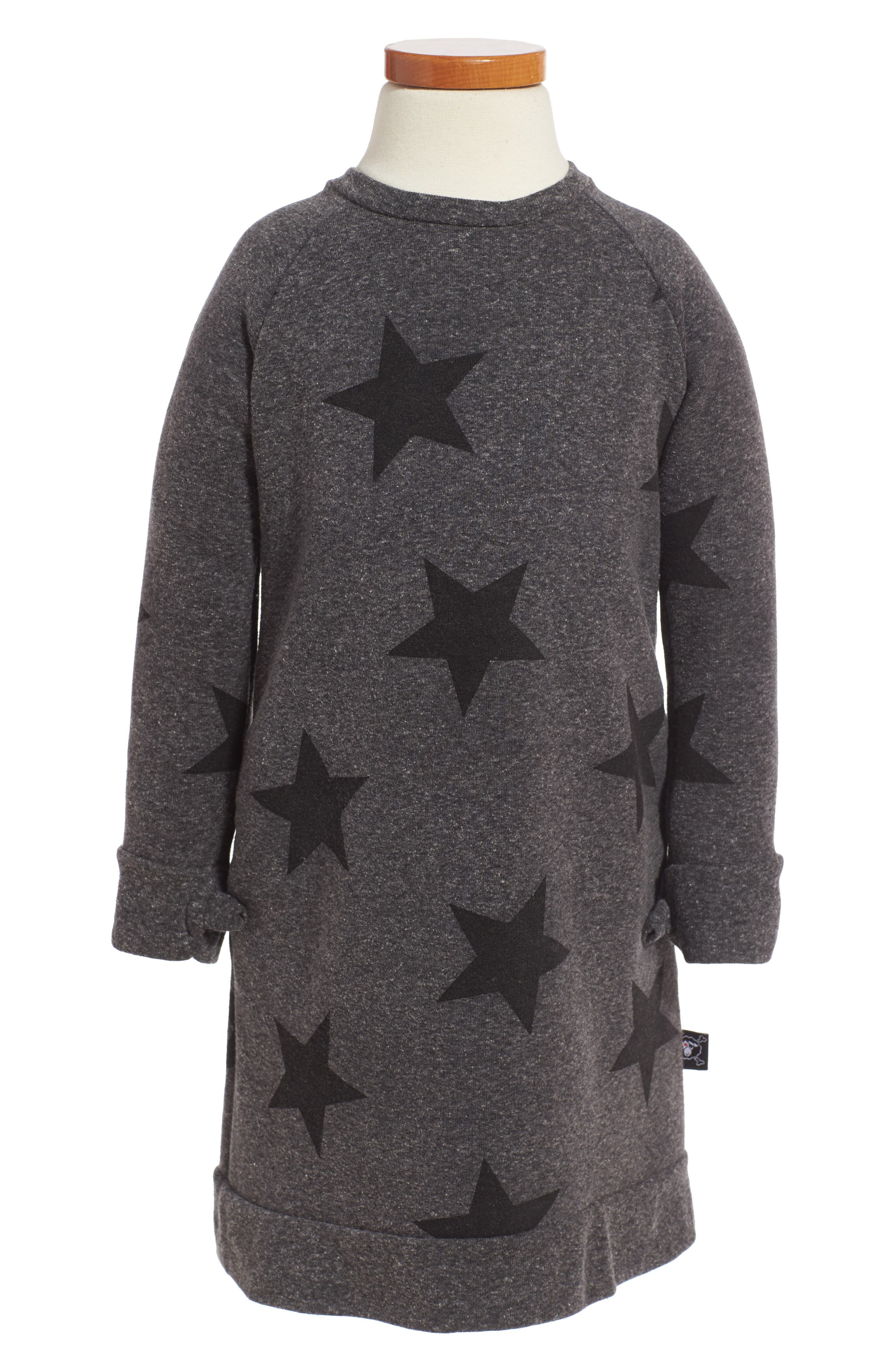NUNUNU Star Print Sweater Dress (Toddler Girls & Little Girls)