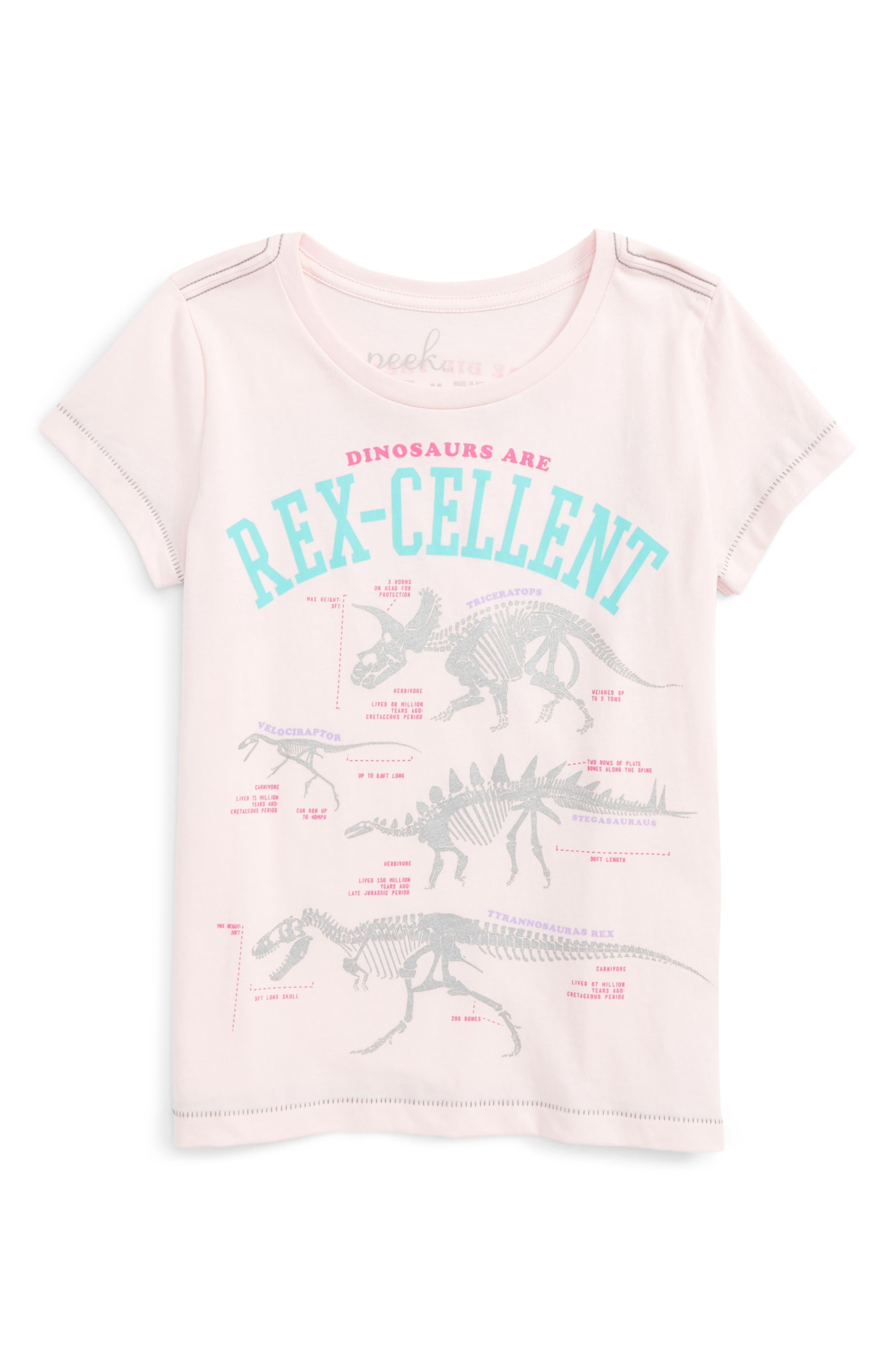 Peek Rexcellent Cotton Tee (Toddler Girls, Little Girls & Big Girls)