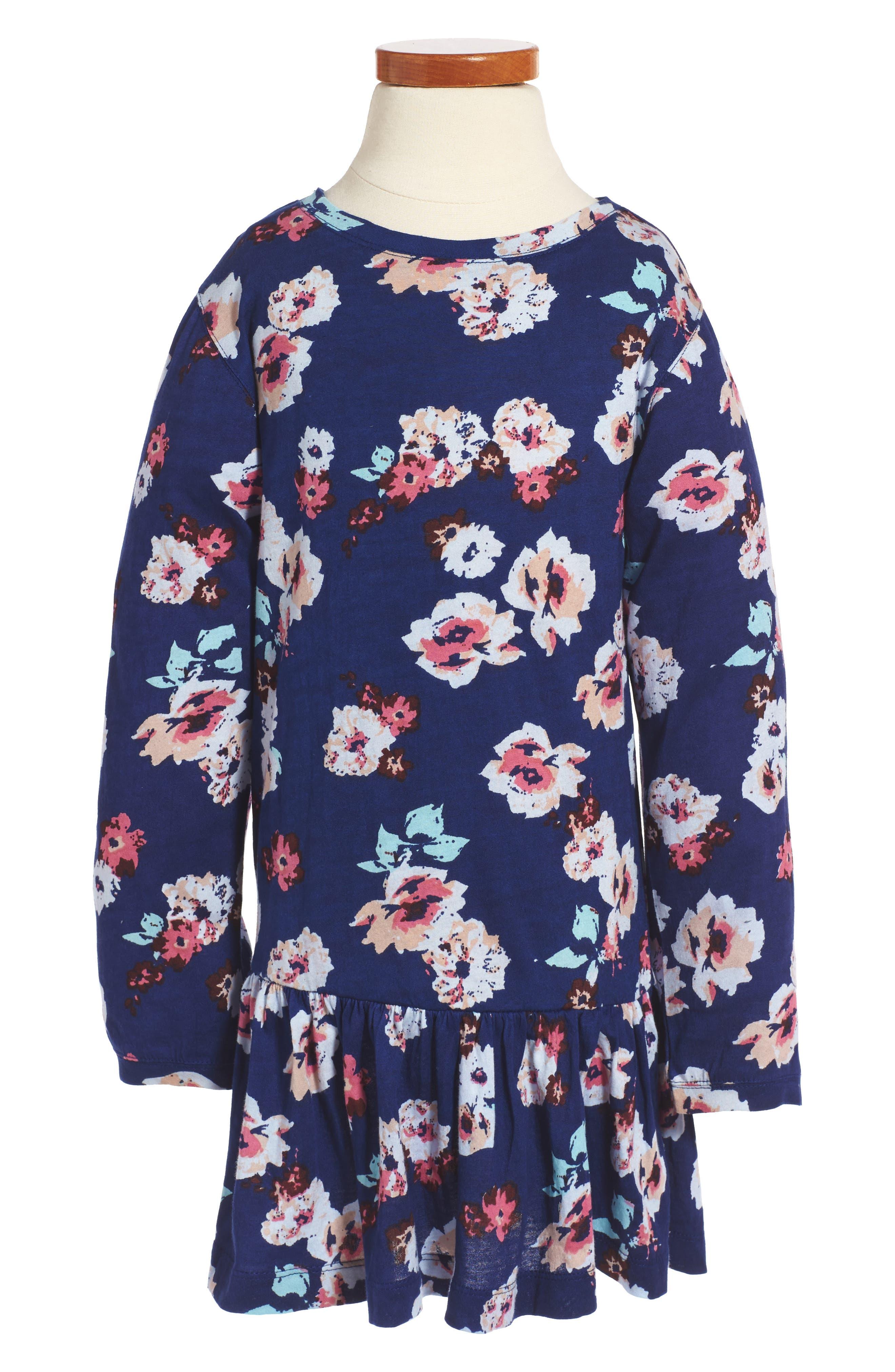 Peek Maddie Floral Print Drop Waist Dress (Toddler Girls, Little Girls & Big Girls)