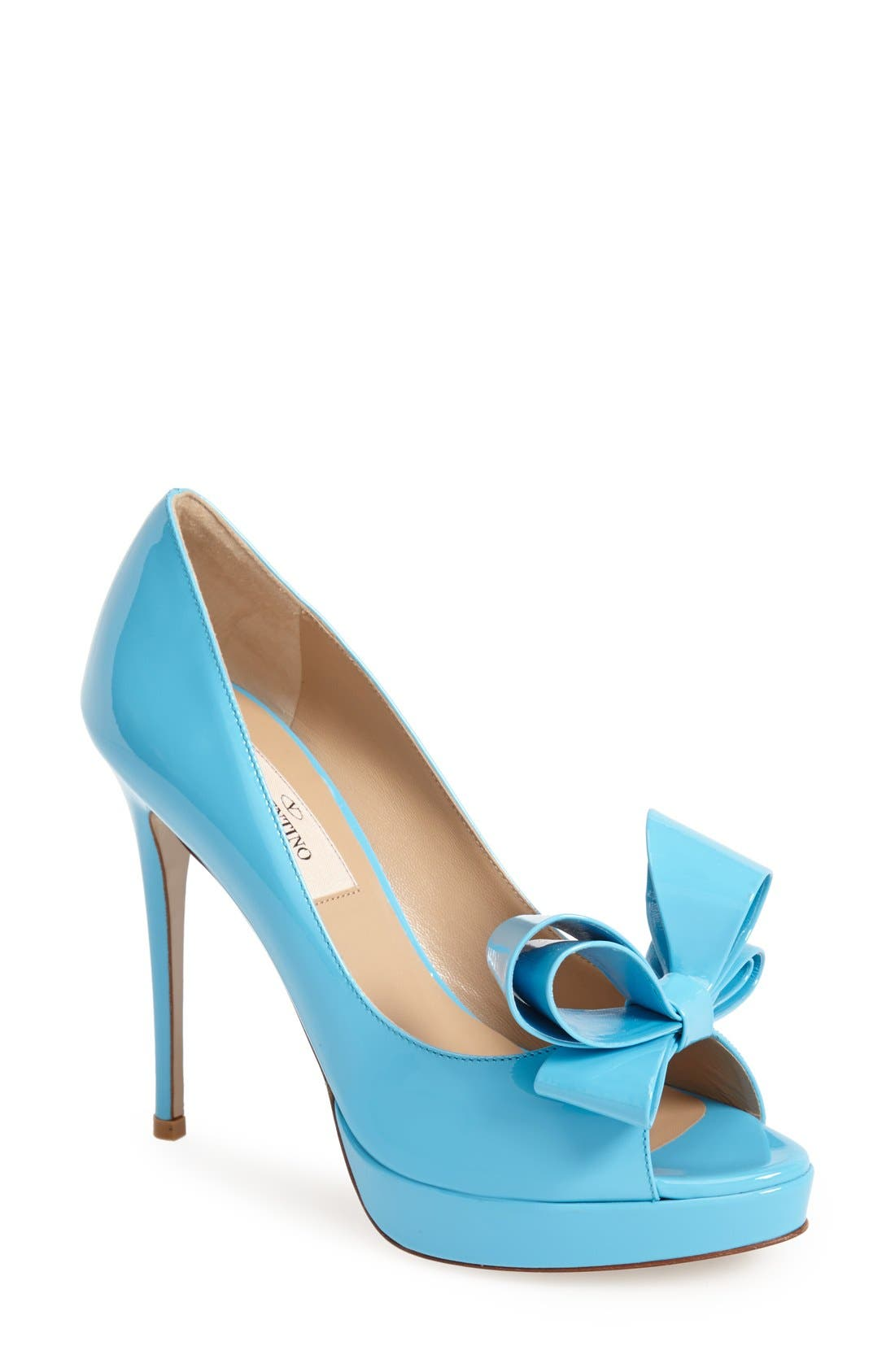 Alternate Image 1 Selected - Valentino 'Couture' Patent Leather Platform Pump (Women)