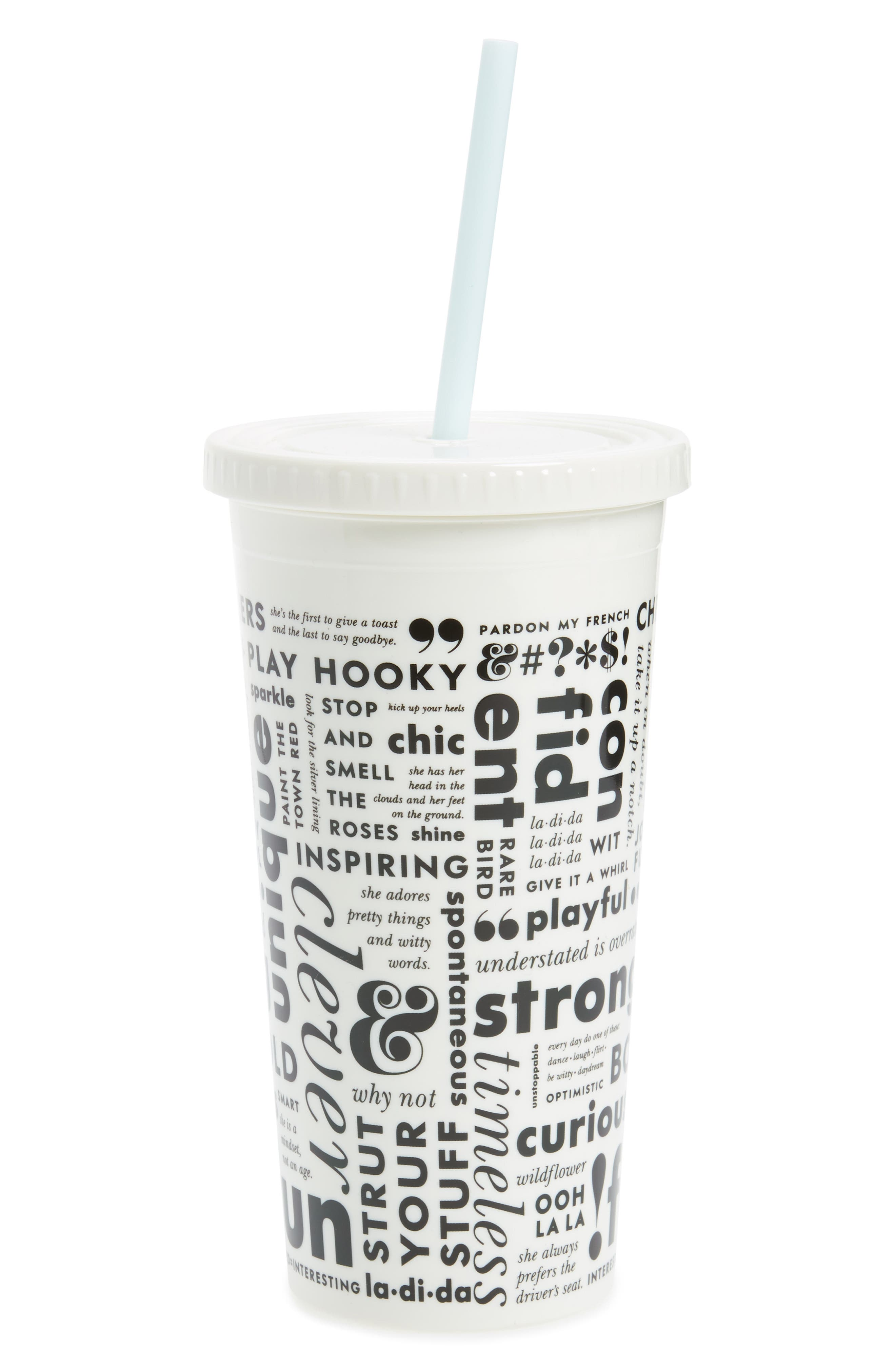 kate spade new york what do you say travel tumbler