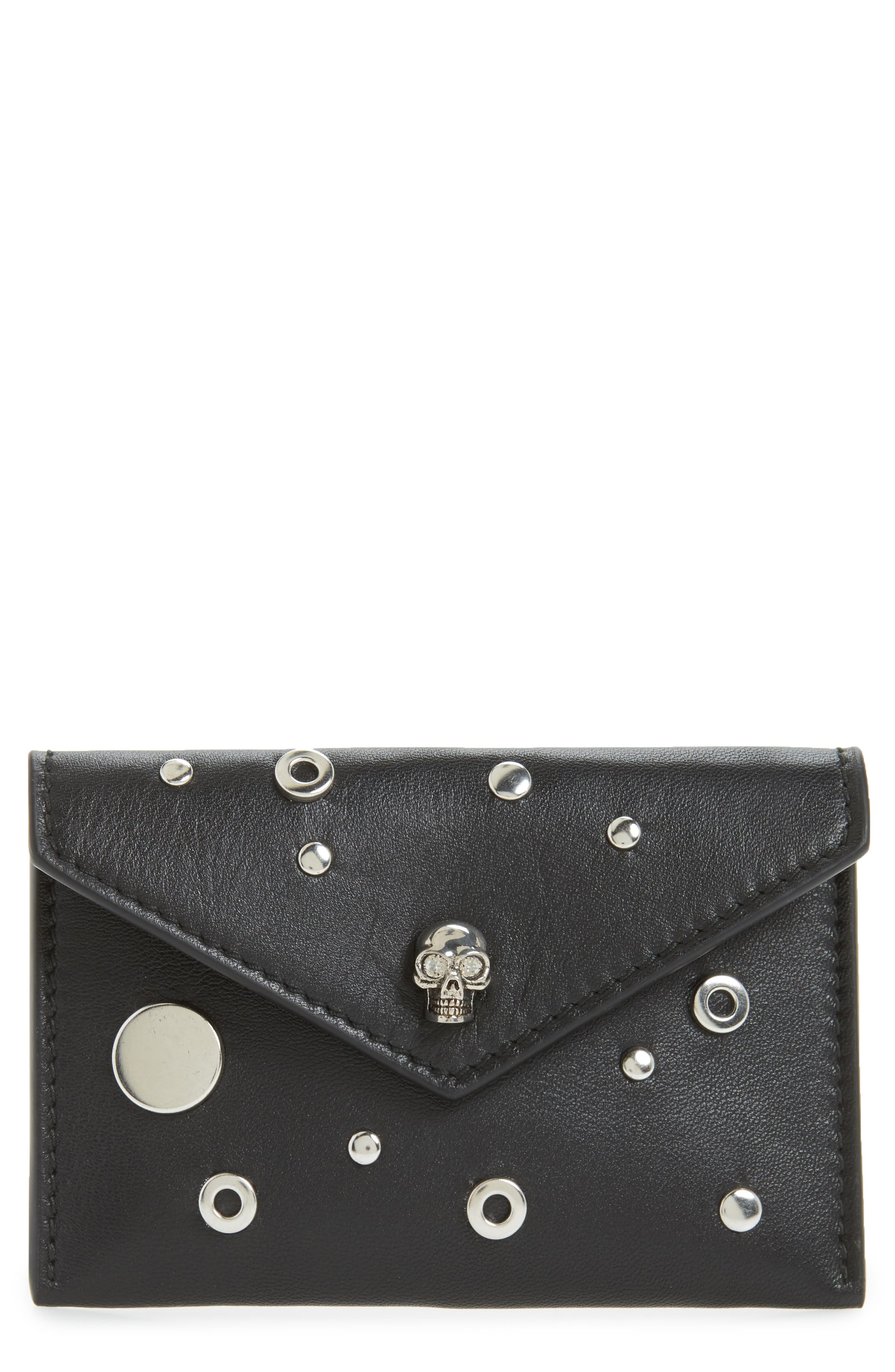 Alexander McQueen Calfskin Leather Envelope Card Holder