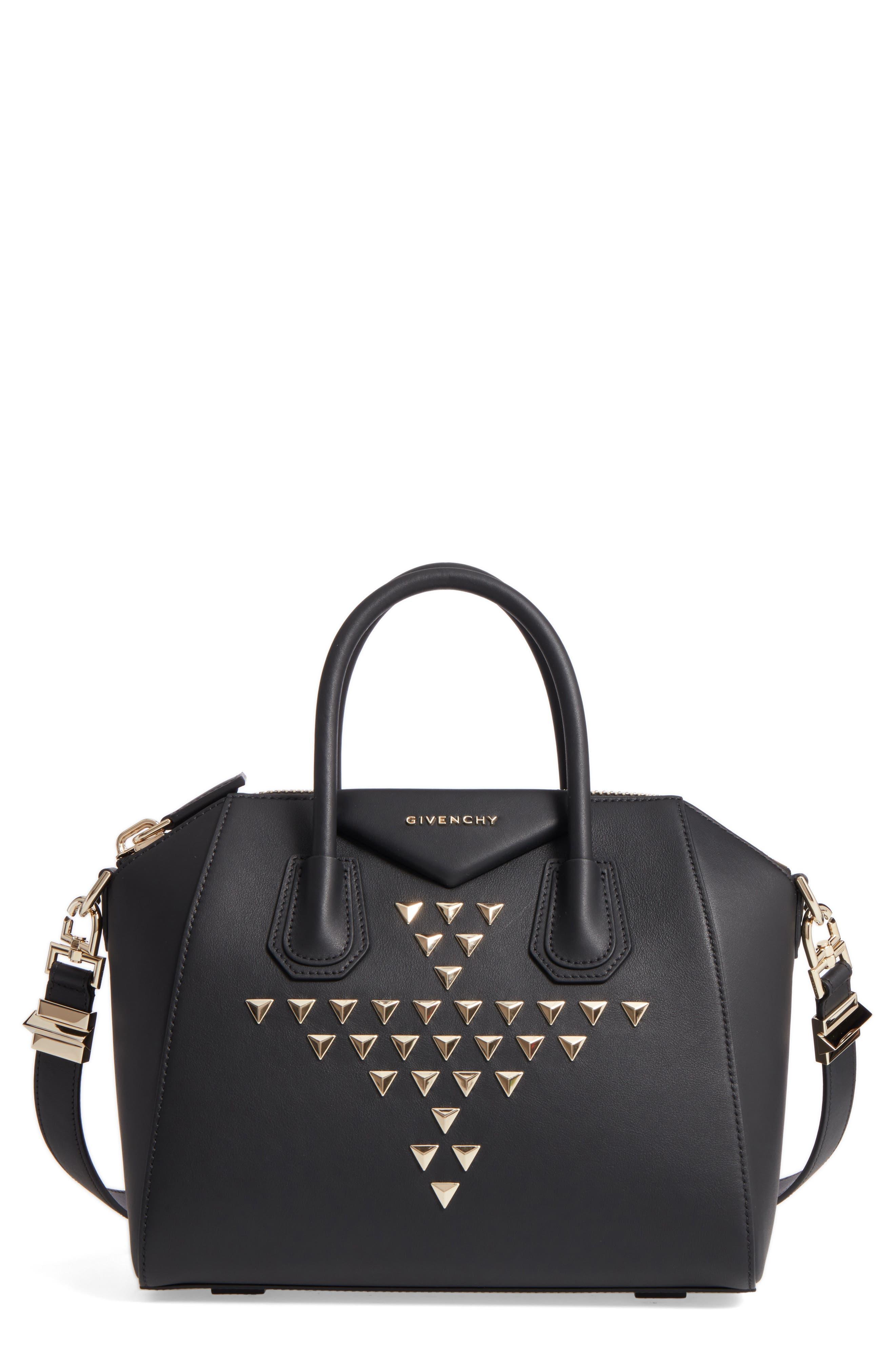 Givenchy Small Antigona Studded Calfskin Leather Satchel