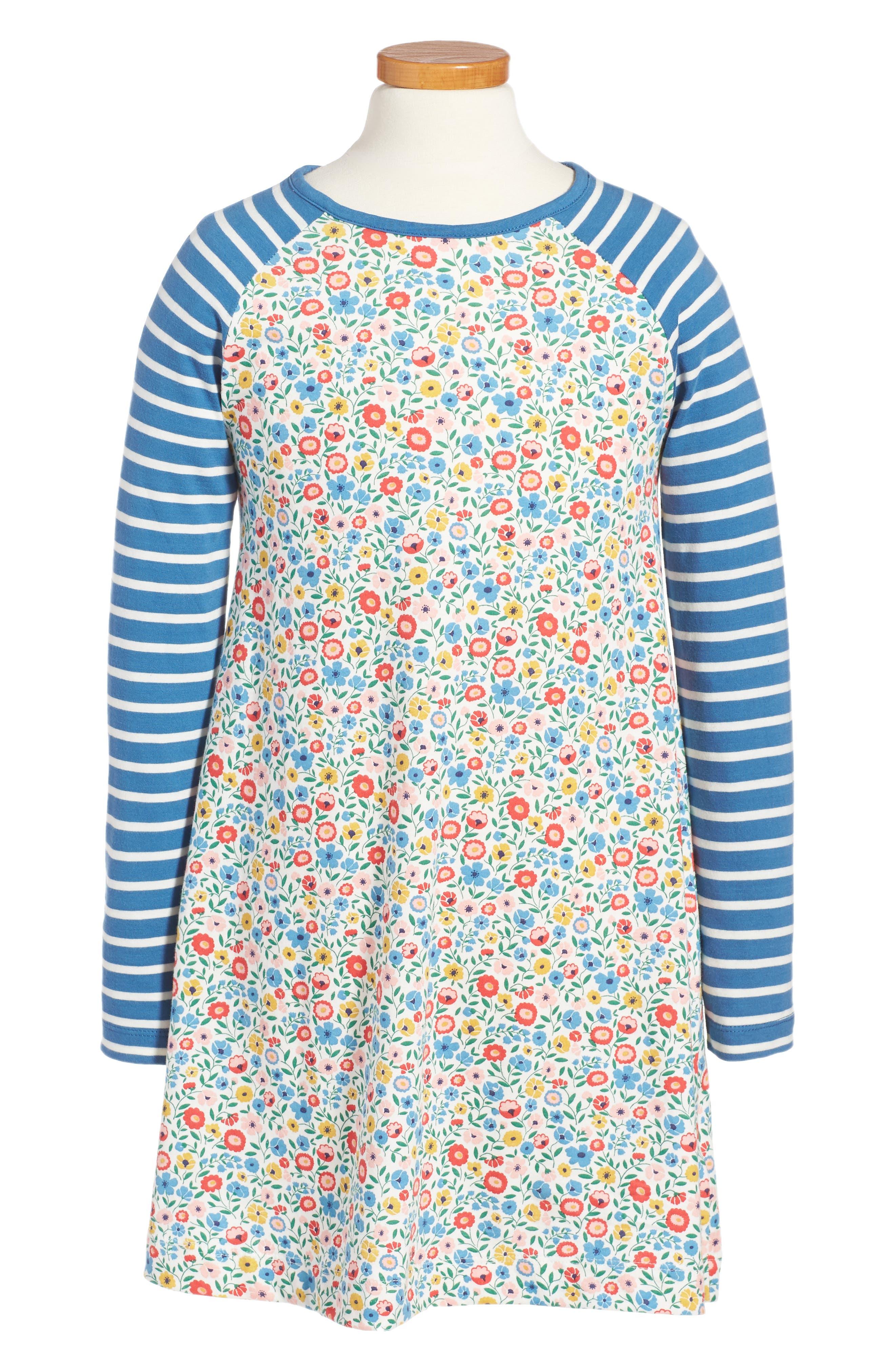 Mini Boden Jersey Swing Dress (Toddler Girls, Little Girls & Big Girls)