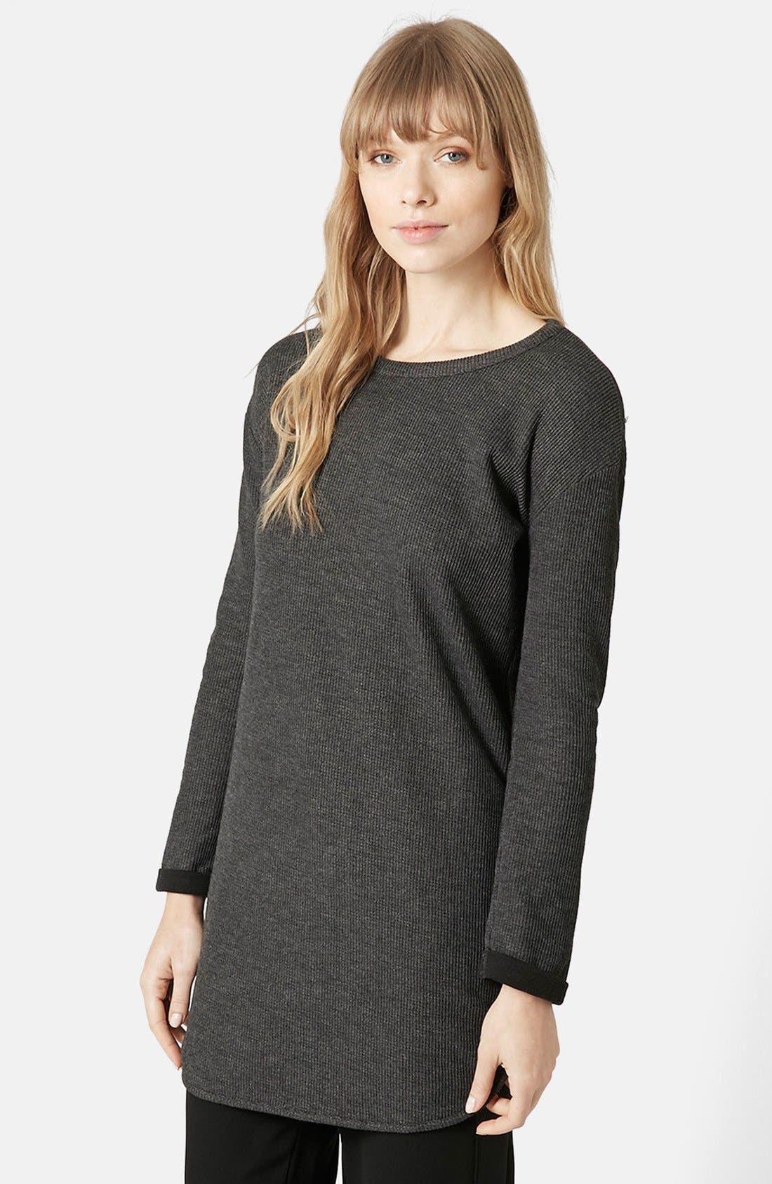 Alternate Image 1 Selected - Topshop Ribbed Tunic