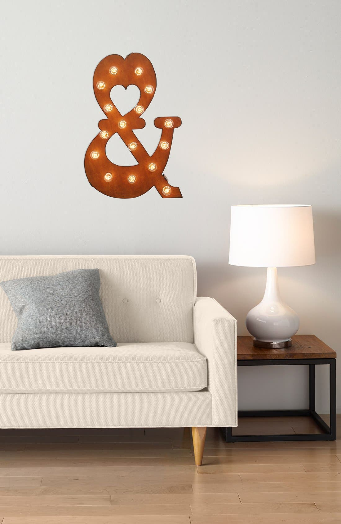 Alternate Image 2  - Universal Ironworks 'Marquee Lights - Ampersand' Recycled Metal Sign