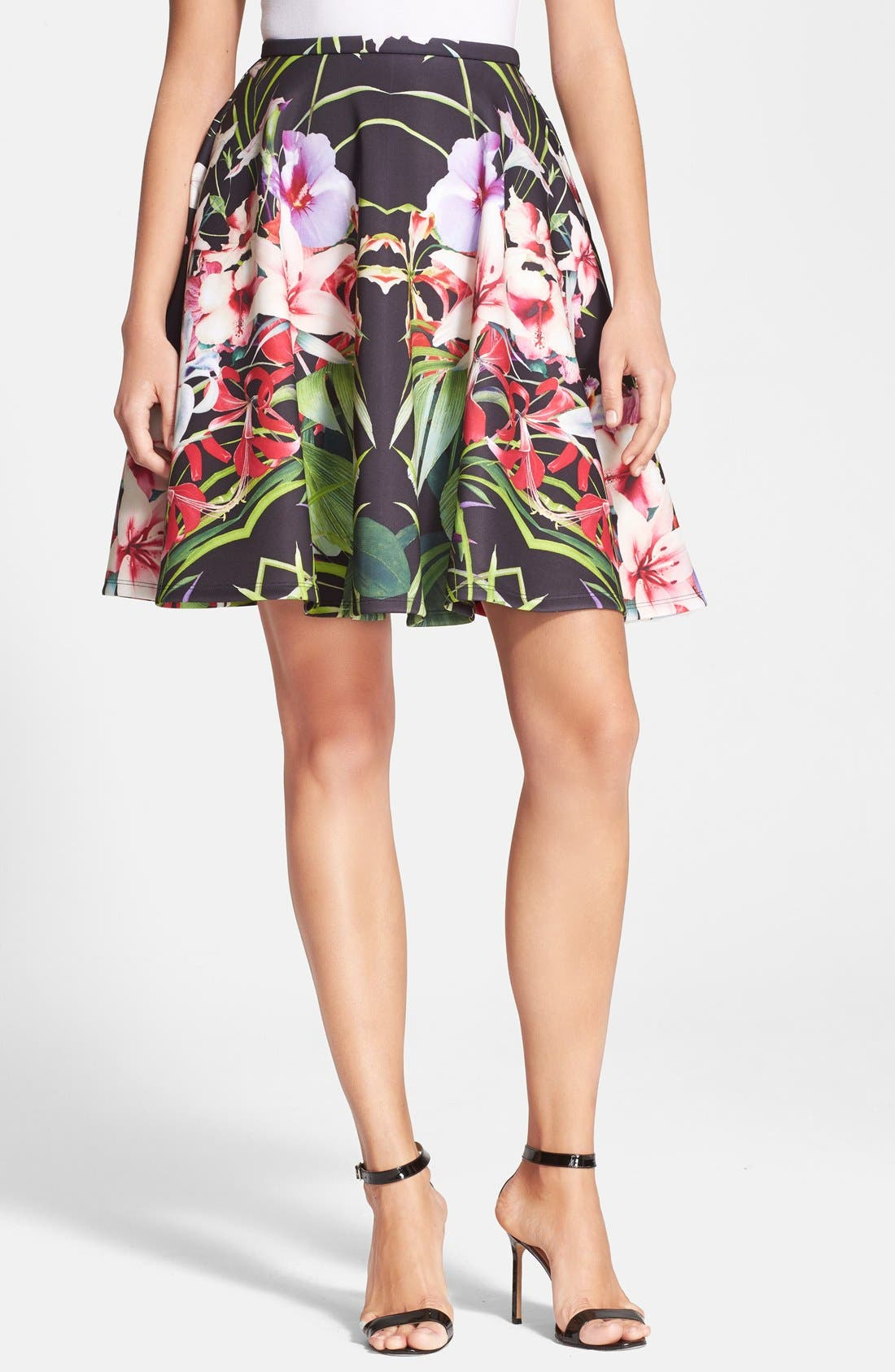 Alternate Image 1 Selected - Ted Baker London 'Hotley' Tropical Print Skirt