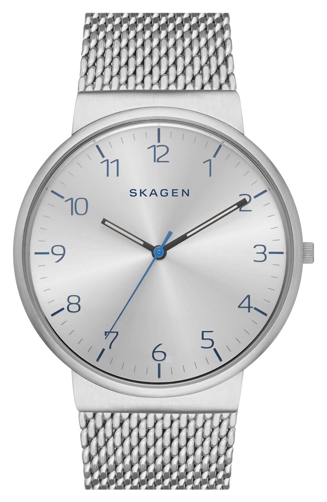 Alternate Image 1 Selected - Skagen 'Ancher' Mesh Strap Watch, 40mm